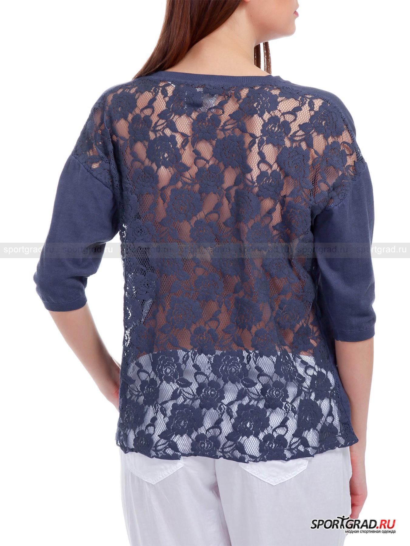 Джемпер женский легкий  Sweater  DEHA с кружевной спинкой