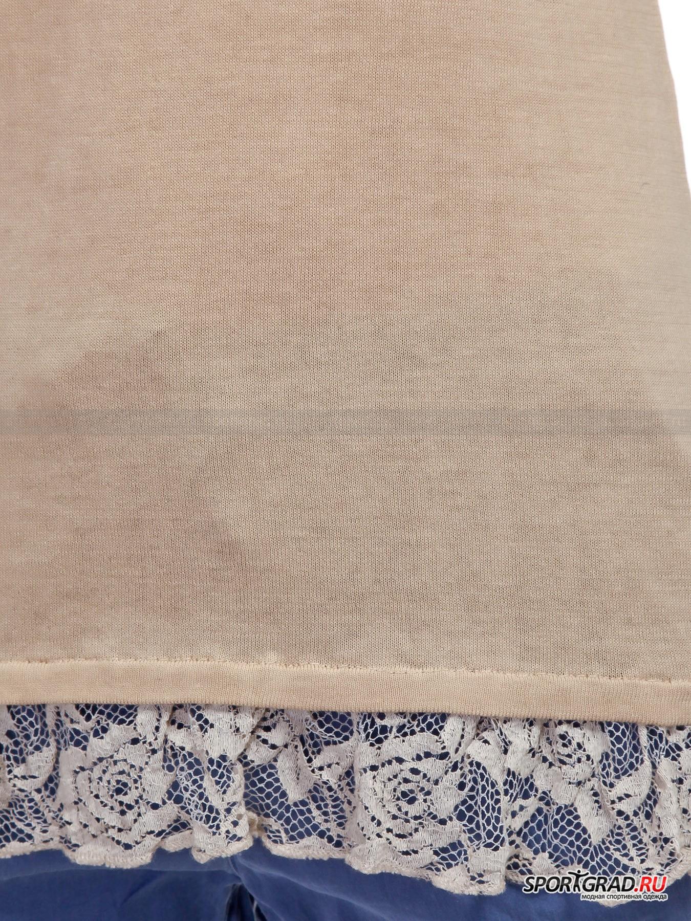 Майка женская Knitted Singlet DEHA с кружевным подолом от Спортград
