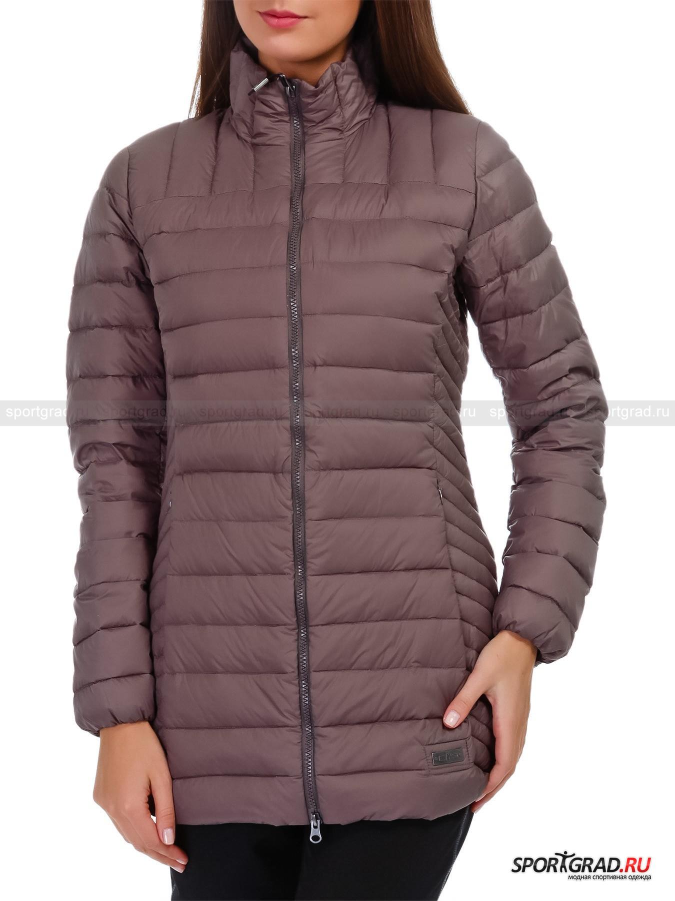 Куртка женская стеганая WOMAN INJECTED LONG JACKET CAMPAGNOLПуховики<br>Стеганая женская куртка WOMAN INJECTED LONG JACKET CAMPAGNOL с чередующимся наклоном прострочки, компактная в сложенном виде и не занимающая много места на вешалке, почти не имеет веса: натуральный наполнитель из пуха внутри очень легкий, но согревает прилично. Полуприлегающий фасон, выделяющий талию,  позволяет выглядеть и чувствовать себя в таком изделии женственно.<br><br>Модель имеет:<br>- воротник-стойку;<br>- длинные втачные рукава с невидимой эластичной сборкой внизу для лучшего обхвата запястий;<br>- кокетку и фигурные рельефы спереди и сзади, моделирующие аккуратную посадку;<br>- застежку на центральную двухзамковую молнию;<br>- пару прорезных карманов на потайной молнии;<br>- фирменный металлический значок с выдавленным на нем названием логотипа.<br>Длина изделия сзади по центру от горловины до низа 74, 5 см, длина рукава по внутреннему шву 49 см, ширина в груди 47 см, ширина по бедрам 52 см (размер 36).<br><br>Пол: Женский<br>Возраст: Взрослый<br>Тип: Пуховики<br>Рекомендации по уходу: Изделию показана стирка при температуре строго 40° и щадящая сушка. Запрещены отбеливание, глажка и химчистка.<br>Состав: Поверхность и подкладка: 100% полиамид. Утеплитель: 90% пух, 10% эластан.