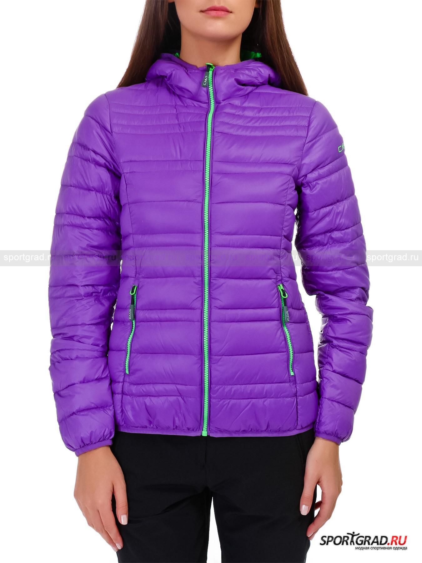 Куртка женская стеганая LADY FIX HOOD JACKET CAMPAGNOLO на пухуПуховики<br>Умещающуюся в чехол диаметром 13, 5 см женскую куртку LADY FIX HOOD JACKET CAMPAGNOLO с теплым, но невесомым наполнителем из натурального дышащего пуха легко и удобно возить с собой, куда бы Вы ни захотели отправиться. Без последствий переносящая множество «паковок», модель обладает свойством оперативно обретать первоначальную форму и успешно оберегать от холода.<br><br>Модель имеет:<br>- горизонтальную прострочку;<br>- воротник-стойку, составляющий с капюшоном единое целое;<br>- распашную молнию с эргономичным бегунком;<br>- фигурные рельефы спереди и сзади для лучшей посадки;<br>- обтачку подола и края рукавов узкой резинкой, страхующей от задувания;<br>- плавно подрезанную спинку;<br>- два наружных кармана на поясе с застежкой-молнией;<br>- пару накладных карманов со стороны подкладки контрастного цвета;<br>- петлю для вешалки.<br>Длина затягивающегося чехла-кисета 26 см. Длина куртки сзади по центру от горловины до низа ок. 60, 5 см, длина рукава по внутреннему шву 52 см, ширина в груди 47 см, ширина по бедрам 45 см (размер 38).<br><br>Пол: Женский<br>Возраст: Взрослый<br>Тип: Пуховики<br>Рекомендации по уходу: Изделию показана стирка при температуре строго 40°, щадящая сушка и бережная аквачистка. Запрещены глажка, отбеливание и химчистка.<br>Состав: Поверхность: 100% нейлон. Подкладка: 100% нейлон. Наполнитель: 90% пух, 10% перо.