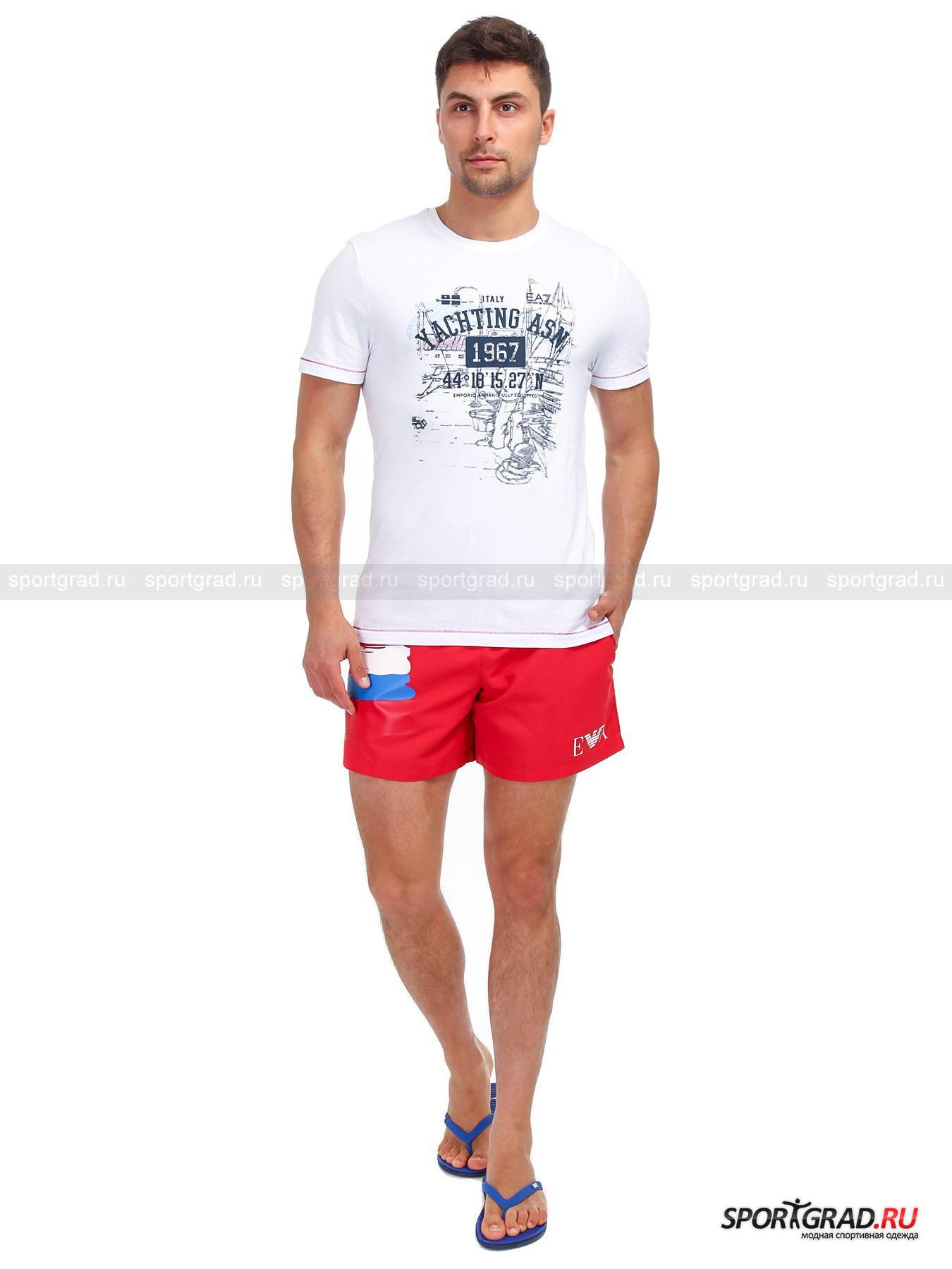 Шорты пляжные мужские SWIMWEAR BOXER EMPORIO ARMANI от Спортград