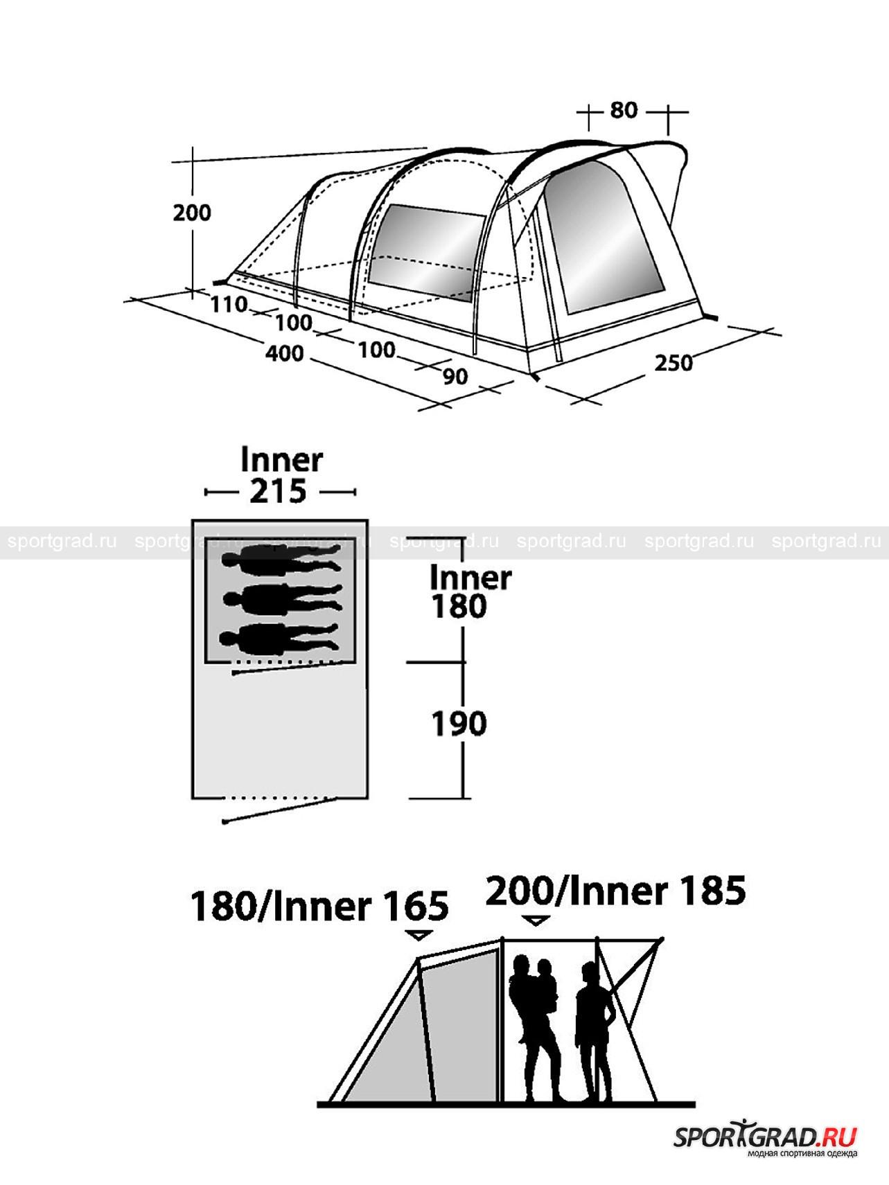 Палатка трёхместная Birdland S Outwell от Спортград