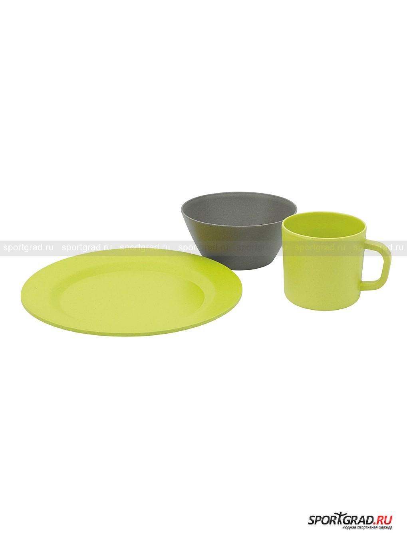 Набор посуды бамбук: кружка+тарелка+чаша Picnic от Спортград