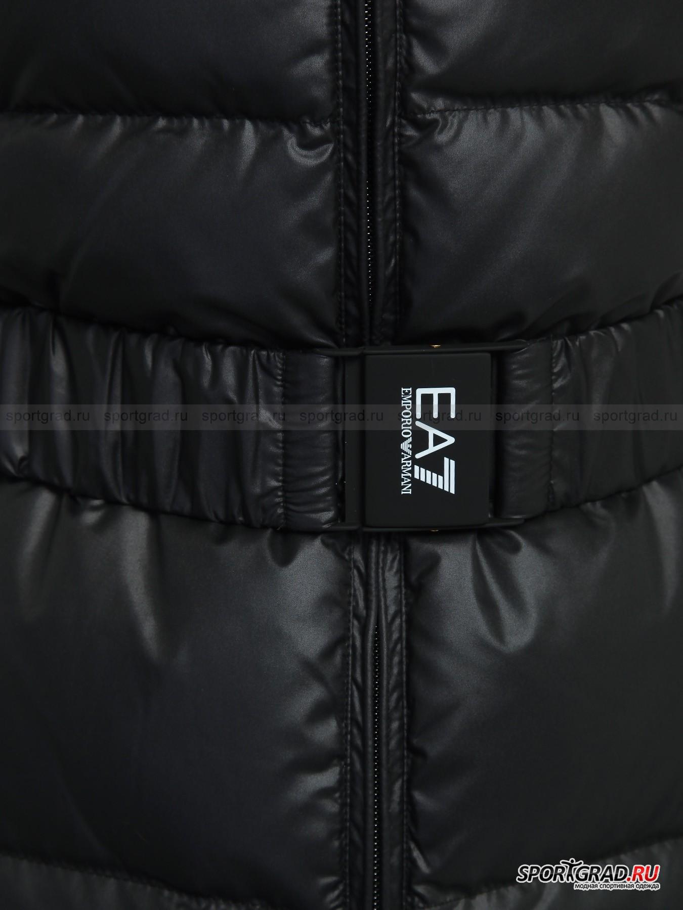 Пальто женское стеганое EMPORIO ARMANI с ремнем от Спортград