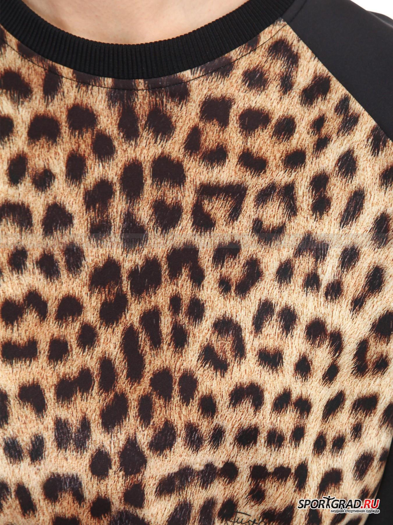 Толстовка женская JUST CAVALLI с леопардовым принтом от Спортград