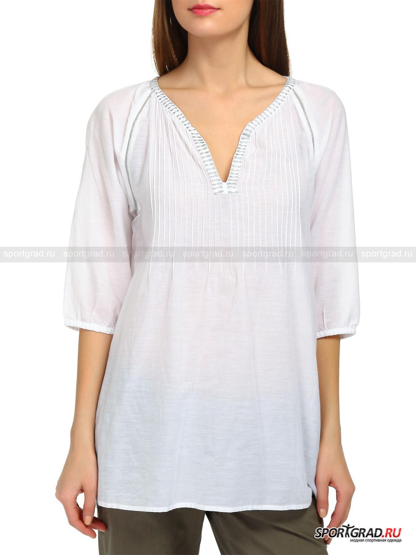 Туника женская Serena FIRE&amp;ICEРубашки<br>Лёгкая женская туника с оригинальными элементами декора, созданная дизайнерами BOGNER FIRE+ICE. Эта вещь может стать как идеальным дополнением Вашего пляжного лука, так и вещью для вечерней прогулки по курортным кварталам, её одинаково комфортно носить как на голое тело, так и поверх майки или футболки. Туника выполнена из необычной ткани, в состав которой входят вискоза и хлопок в пропорции 4 к 6, что позволяет ей оставаться слегка прохладной даже жару. Модель имеет оригинальный вырез, рукава ? с тонкими эластичными манжетами, чуть удлинённую заднюю часть, защипы на спине и декорирована металлизированными бусинами и вышивкой. Индийские мотивы и превосходное качество от респектабельной немецкой марки с мировым именем.<br><br>Пол: Женский<br>Возраст: Взрослый<br>Тип: Рубашки<br>Рекомендации по уходу: Деликатная ручная стирка при температуре 30 градусов, щадящий ручной отжим, гладить при температуре до 110 градусов.<br>Состав: 60% хлопок, 40% вискоза.