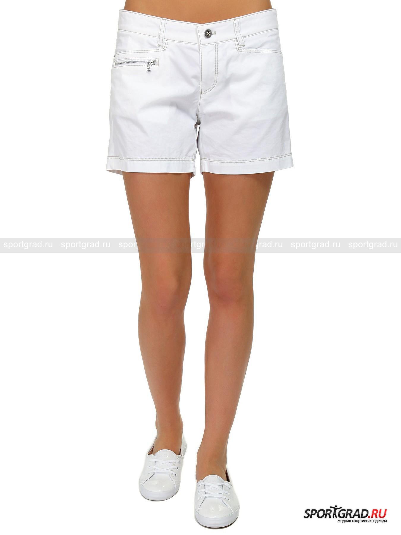 Шорты женские Fiora-g BOGNERШорты, Велосипедки<br>Яркие женские шорты BOGNER, выполненные из особой эластичной ткани, не только выделят Вас из толпы, но ещё и подарят абсолютную свободу движений. Усиленная контрастная прострочка швов, 5 карманов, плотный притачной пояс со шлёвками и заниженная линия талии – превосходный стиль от одного из самых респектабельных брендов Германии.<br><br>Пол: Женский<br>Возраст: Взрослый<br>Тип: Шорты, Велосипедки<br>Рекомендации по уходу: Деликатная ручная стирка при температуре 30 градусов, щадящий ручной отжим.<br>Состав: 70% хлопок, 26% полиэстер, 4% эластан