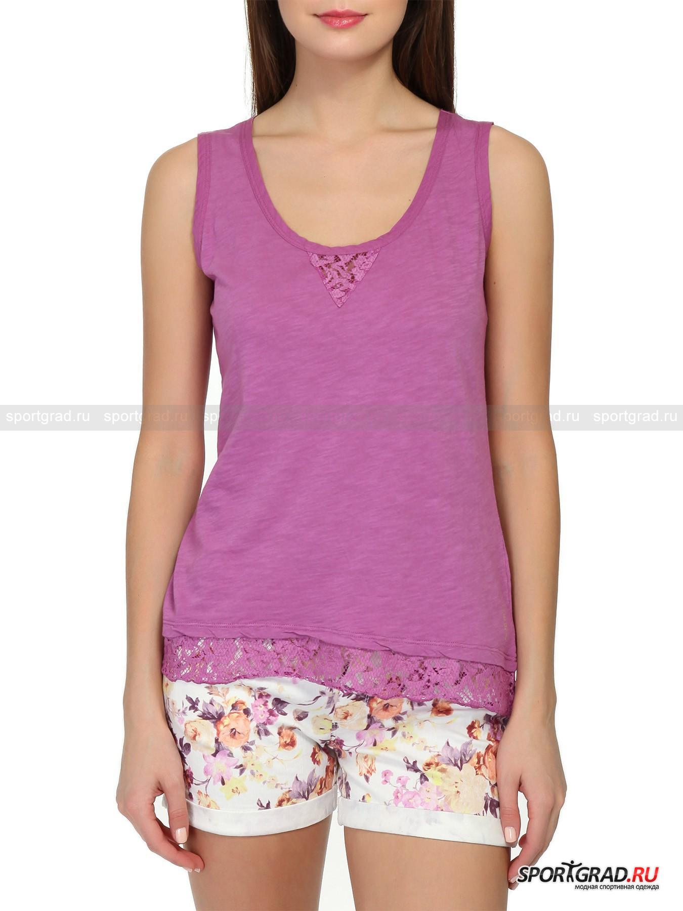 Майка Sleeveless T-Shirt DEHA с кружевными вставками