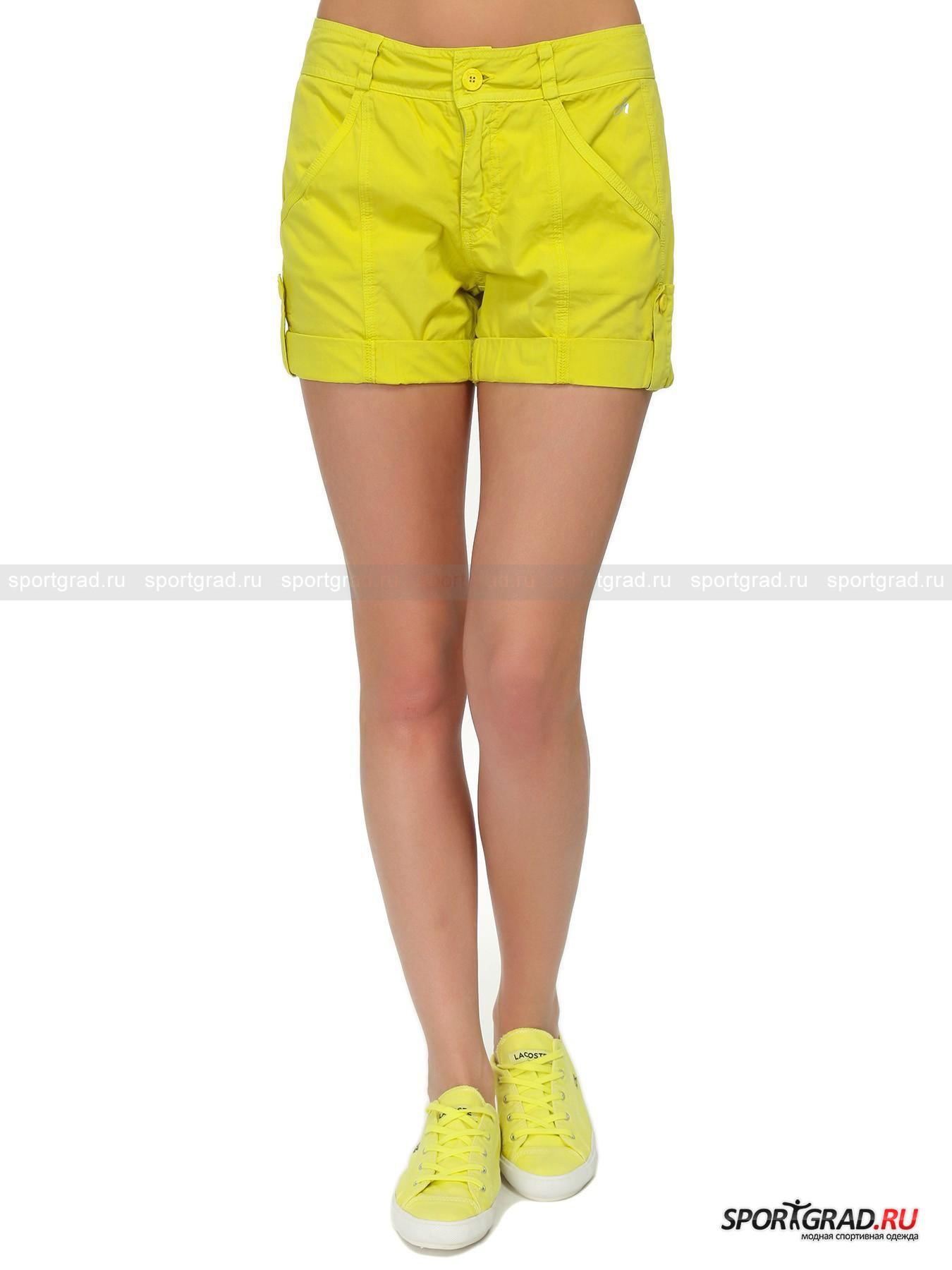 Шорты Shorts DEHAШорты, Велосипедки<br>Короткие шорты Shorts Deha – классическая летняя модель, позволяющая создавать множество ярких образов. Эти потрясающие шорты имеют все, чтобы стать одной из самых любимых вещей в вашем гардеробе: приятный к телу хлопковый материал, стильные отвороты на пуговицах, полукруглые карманы, создающие дополнительный объем в области ягодиц, кокетку для лучшей посадки и вертикальные швы, делающие ноги визуально длиннее. Также у модели есть два прорезных кармана спереди, шлевки для ремня и застежка-молния.<br><br>Пол: Женский<br>Возраст: Взрослый<br>Тип: Шорты, Велосипедки<br>Рекомендации по уходу: стирка в теплой воде до 30 С; не отбеливать; гладить при низкой температуре (до 120 C); только сухая чистка; нельзя выжимать и сушить в стиральной машине<br>Состав: 100% хлопок