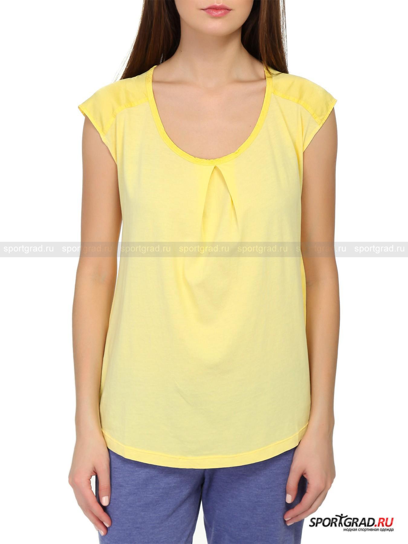 Майка T-Shirt DEHA хлопковая с драпировкойМайки<br>Хлопковая однотонная футболка без рукавов T-Shirt DEHA – базовая модель, которая будет отлично смотреться на любой фигуре, скроет недостатки и подчеркнет достоинства. Она не так проста, как кажется на первый взгляд: плечи майки отделаны  материалом контрастной гладкой, чуть блестящей фактуры, а по центру круглого выреза ткань собрана в складки, красиво ниспадающие и подчеркивающие линию груди и делающие ее визуально больше.<br><br>Пол: Женский<br>Возраст: Взрослый<br>Тип: Майки<br>Рекомендации по уходу: стирка в теплой воде до 30 С; не отбеливать; гладить слегка нагретым утюгом (температура до 120 C); только сухая чистка; нельзя выжимать и сушить в стиральной машине<br>Состав: 100% хлопок