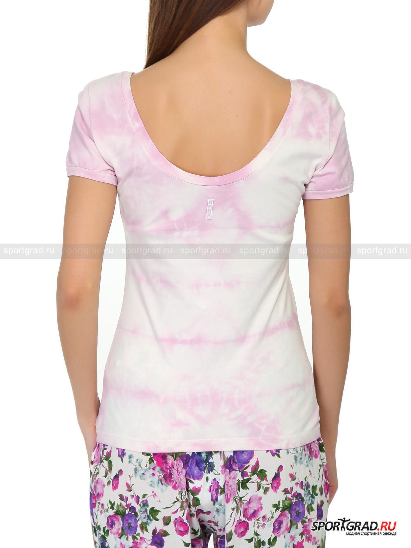 Футболка женская T-shirt DEHA с вырезом на спине от Спортград