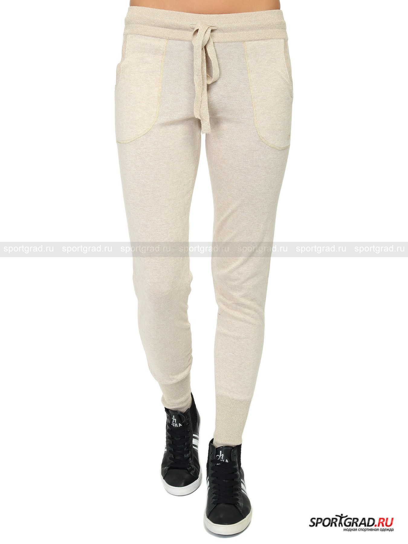 Трикотажные брюки женские