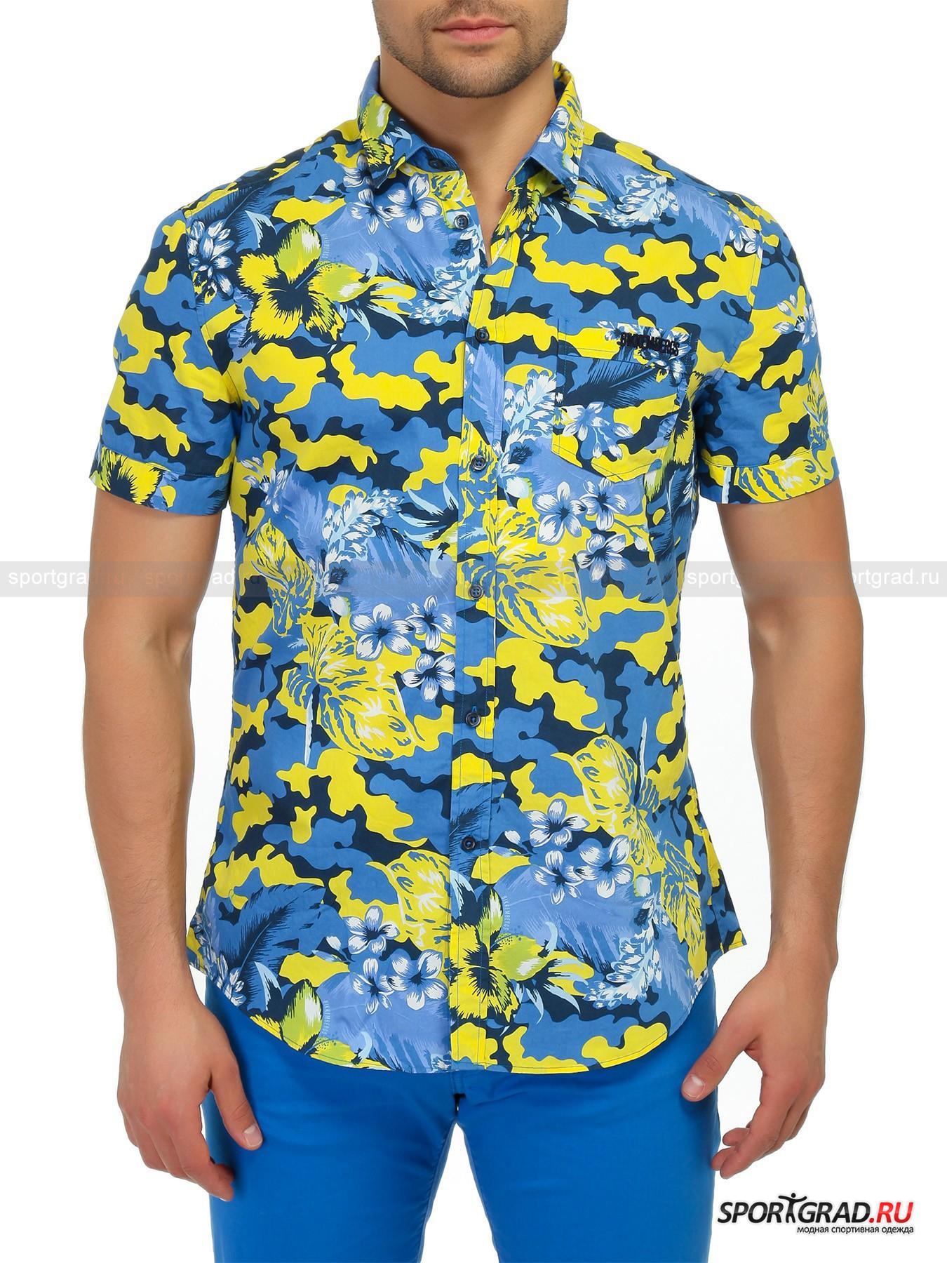 Рубашка мужская BIKKEMBERGS