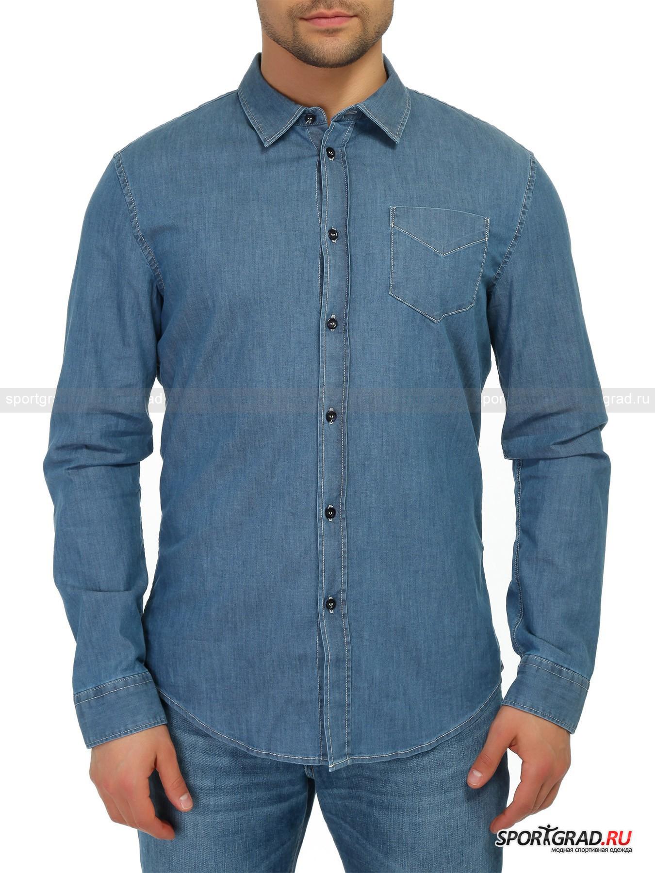 Рубашка мужская BIKKEMBERGSРубашки<br>Оригинальная мужская рубашка BIKKEMBERGS, сшитая из гладкой хлопковой ткани стретч. Сложно найти хотя бы один стильный мужской гардероб, в котором не будет хотя бы пары рубашек с длинным рукавом. Эта модель отличается своей сбалансированной лаконичностью и, конечно, превосходным качеством исполнения. Рубашка снабжена нагрудным карманом, контрастной прострочкой швов и дополнена кожаной нашивкой с надписью BIKK на спине. Сделано в Италии.<br><br>Пол: Мужской<br>Возраст: Взрослый<br>Тип: Рубашки<br>Рекомендации по уходу: Деликатная ручная стирка при температуре 30 градусов, щадящий ручной отжим, гладить при температуре до 120 градусов.<br>Состав: 97% хлопок, 3% эластан
