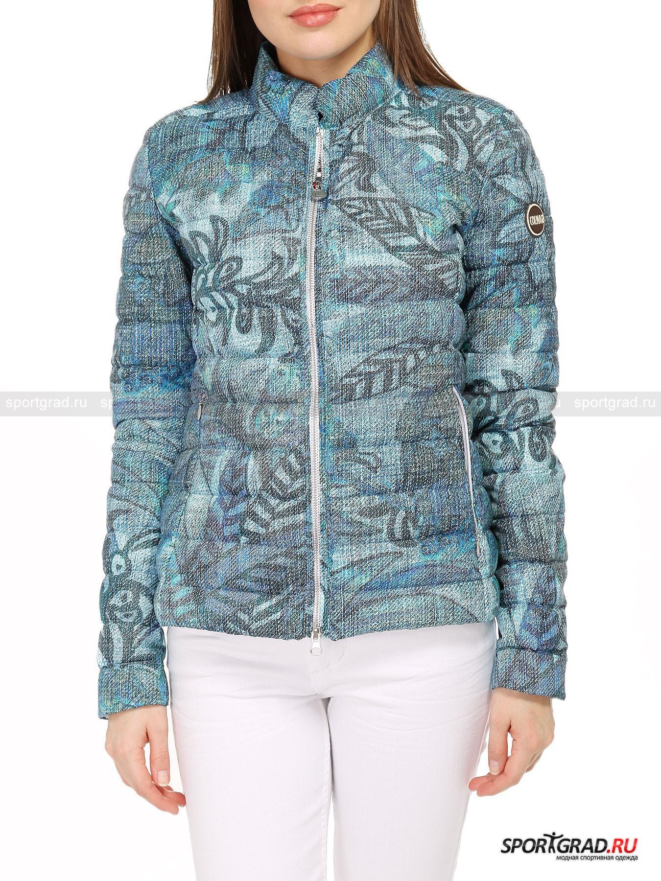 Куртка женская COLMAR ORIGINALS LIGHT DOWN JACKETКуртки<br>Стараясь сочетать в линии ORIGINALS свои достижения в области пошива высокотехнологичной одежды и городской стиль, итальянский бренд COLMAR получает возможность значительно расширить границы фантазии. Причем не только для себя, но и для покупателей.<br><br>Заметная женская куртка  LIGHT DOWN JACKET привлекает внимание своим внешним видом и оригинальным принтом, нанесенным при помощи технологии фотоэффекта. Фронтальная молния оснащена водоотталкивающей системой, не позволяющей влаге попадать внутрь. Укороченный силуэт предлагает носить пуховик на натуральном утеплителе в нехолодную зиму или прохладную весну и осень.<br><br>•Стоячий ворот<br>•Реверсная металлическая молния<br>•Скрытые поясные карманы на молнии<br>•Два внутренних продолговатых кармана без застежки<br>•Фирменный логотип компании<br><br>Пол: Женский<br>Возраст: Взрослый<br>Тип: Куртки<br>Рекомендации по уходу: Деликатная стирка при 30С наизнанку. Не отбеливать. Не сушить в стиральной машине. Гладить при температуре до 110 С.<br>Состав: 100% полиэстер, утеплитель – 90% пух/10% перо.