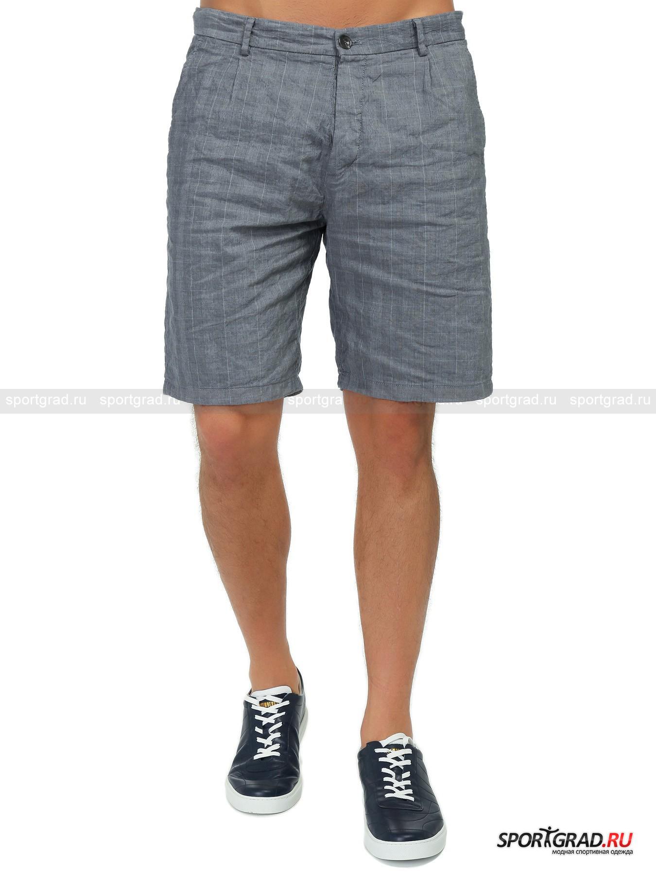 Шорты мужские ICEBERGШорты, Велосипедки<br>Лёгкие клетчатые шорты ICEBERG, для создания которых была использована оригинальная хлопково-льняная ткань, - это замечательное решение для Вашего летнего casual лука. Модель имеет классическую посадку, 4 кармана, притачной пояс со шлёвками для пояса и двойную застёжку на пуговицах. Шорты снабжены фирменной фурнитурой с символикой бренда и украшены небольшой металлической эмблемой ICEBERG сзади.<br><br>Пол: Мужской<br>Возраст: Взрослый<br>Тип: Шорты, Велосипедки<br>Рекомендации по уходу: Деликатная ручная стирка при температуре 30 градусов, щадящий ручной отжим, гладить при температуре до 120 градусов.<br>Состав: 61% хлопок, 39% лён