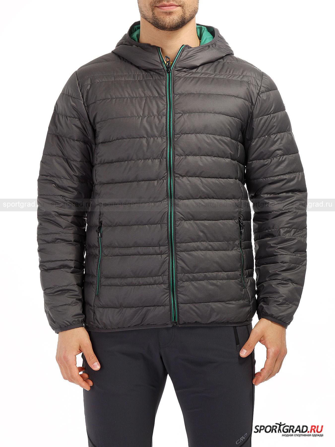 Куртка мужская   CAMPAGNOLO FIX HOODКуртки<br>Легкий и практичный пуховик CAMPAGNOLO, который не даст замерзнуть зимой и не будет грузным в более теплое время года. Его можно вполне использовать в качестве промежуточного слоя во время лютых морозов или в горной местности. Итальянская марка одежды CAMPAGNOLO славится своей приверженностью к outdoor тематике и к различного рода путешествиям. Поэтому данный пуховик столь популярен среди любителей походов и загородного отдыха. Но его стильный и аккуратный силуэт не будет бросаться в глаза и в городских условиях. Что важно, наполнитель в куртке натуральный, а внешняя оболочка из синтетического материала прочно удерживает пух и перо. Помимо внешних поясных карманов на молнии, внутри предусмотрены два внутренних.<br><br>Пол: Мужской<br>Возраст: Взрослый<br>Тип: Куртки<br>Рекомендации по уходу: Стирка при температуре 30 С; минимум чистящего средства; при стирке использовать 2 теннисных мячика, чтобы не сбивался пух; отбеливание запрещено; сушка в барабане; не гладить; химчистка запрещена; рекомендуется аквачистка; при стирке не смешивать с издел<br>Состав: 100% полиэстер, 90% пух/10% перо.