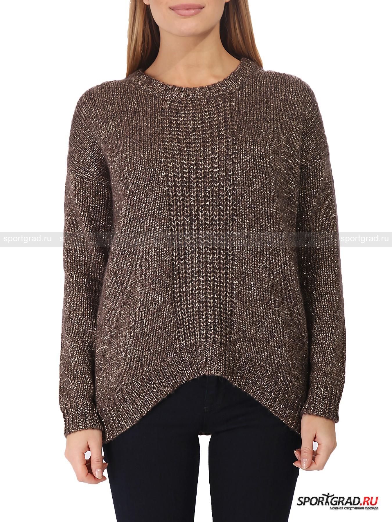 Свитер женский Sweater DEHAДжемперы, Свитеры, Пуловеры<br>Итальянская марка Deha по-особенному умеет обращаться с цветом. Вещи бренда почти никогда не бывают яркими, оттенки получаются натуральными, приглушенными, но при этом интересными. Вот и представленный свитер Sweater Deha примечателен прежде всего цветом – благородный оттенок бронзы дополнен золотистыми блестящими нитями, что смотрится весьма необычно и стильно. <br><br>Другая особенность модели – фасон oversize, который является одним из главных модных трендов этой зимы. Такой покрой понравится девушкам с любым типом фигуры, так как он универсален  и на всех смотрится хорошо и к тому же легко сочетается с различными вариантами «низа».<br><br>Пол: Женский<br>Возраст: Взрослый<br>Тип: Джемперы, Свитеры, Пуловеры<br>Рекомендации по уходу: не стирать; не отбеливать; гладить слегка нагретым утюгом (температура до 110 C); только сухая чистка; нельзя выжимать и сушить в стиральной машине<br>Состав: 45% шерсть, 55% полиэстер