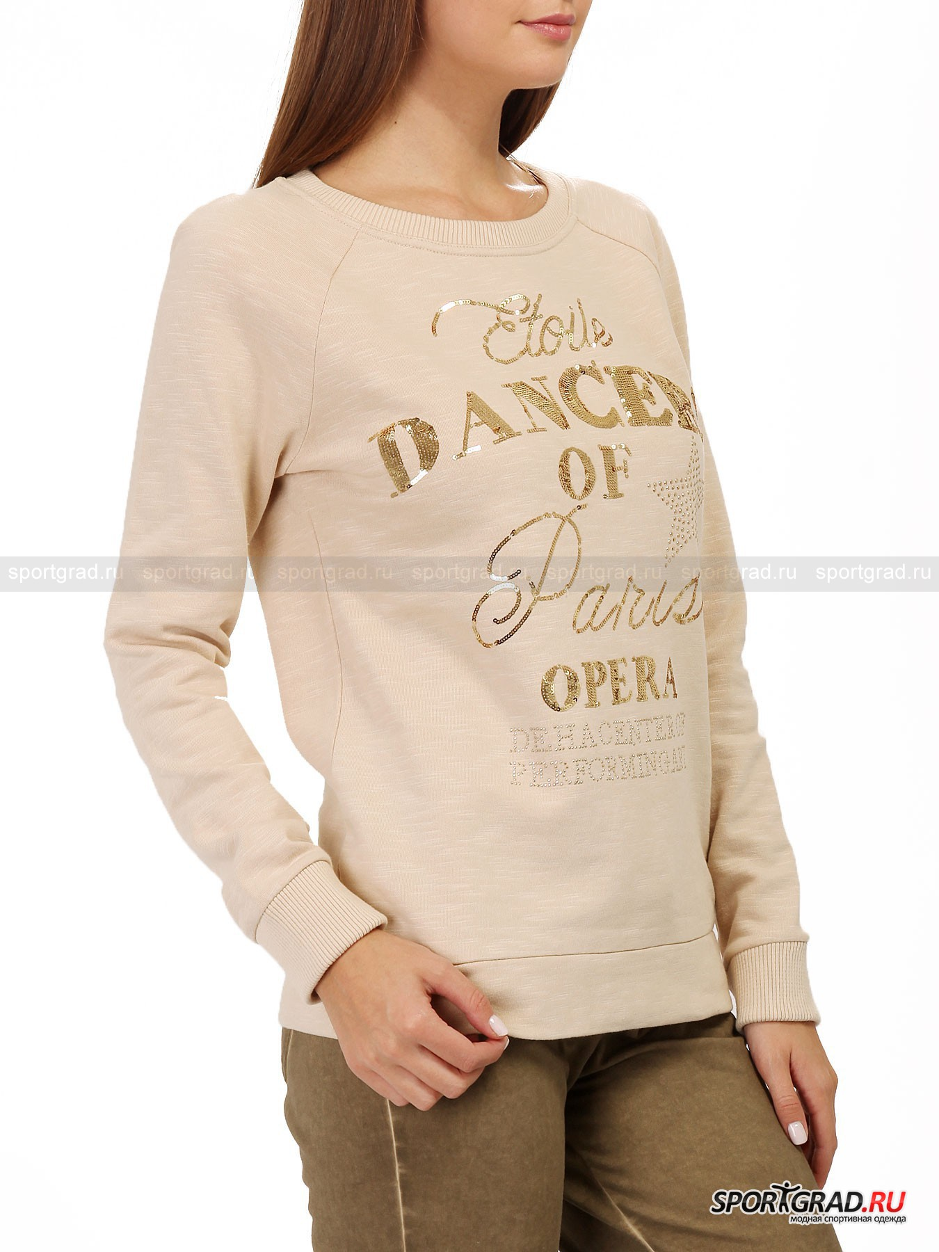 Толстовка женская с аппликацией из пайеток Sweatshirt DEHA от Спортград