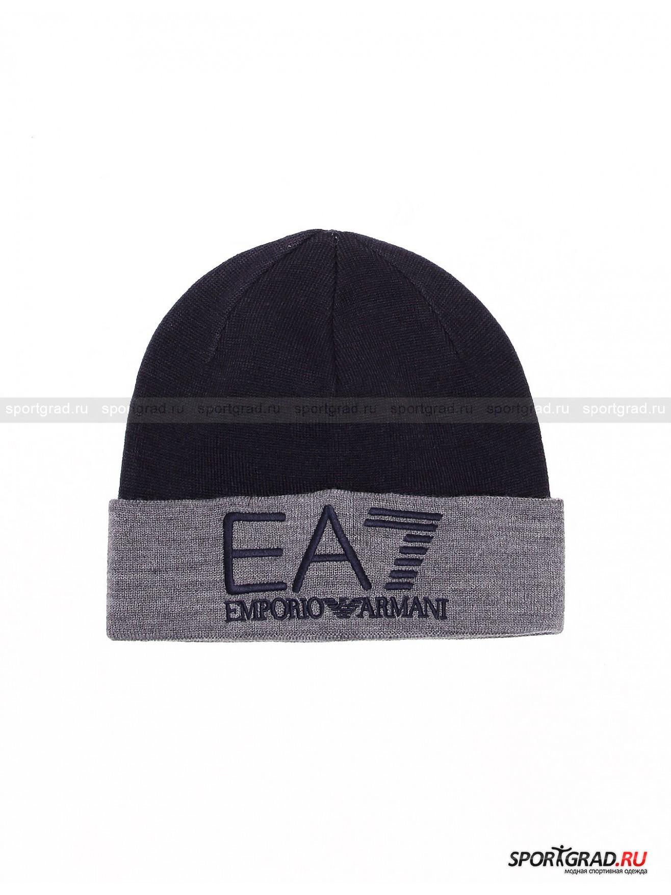 Шапка мужская Urban Mountain Hat EMPORIO ARMANIГоловные Уборы<br>Двухслойная тонкая шапка Urban Mountain Hat от EA7 Emporio Armani рассчитана скорее на осень или теплую зиму, чем на настоящие холода. Этот полезный аксессуар выполнен в фирменном узнаваемом стиле бренда: лаконичная в целом модель украшена лишь вышитым логотипом EA7. Изнутри шапка такого же цвета, как отворот. Она плотно обхватывает голову и прекрасно защищает от пронизывающего осеннего ветра.<br><br>Пол: Мужской<br>Возраст: Взрослый<br>Тип: Головные Уборы<br>Рекомендации по уходу: ручная стирка; нельзя отбеливать, гладить, подвергать химической чистке, выжимать и сушить в стиральной машине<br>Состав: 100% акрил