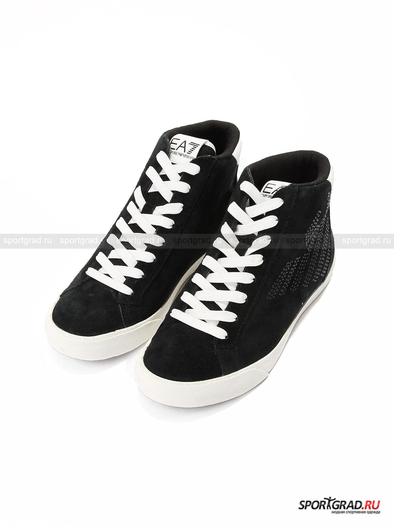 Кеды высокие женские Pride High Strass W Shoes EA7 EMPORIO ARMANI