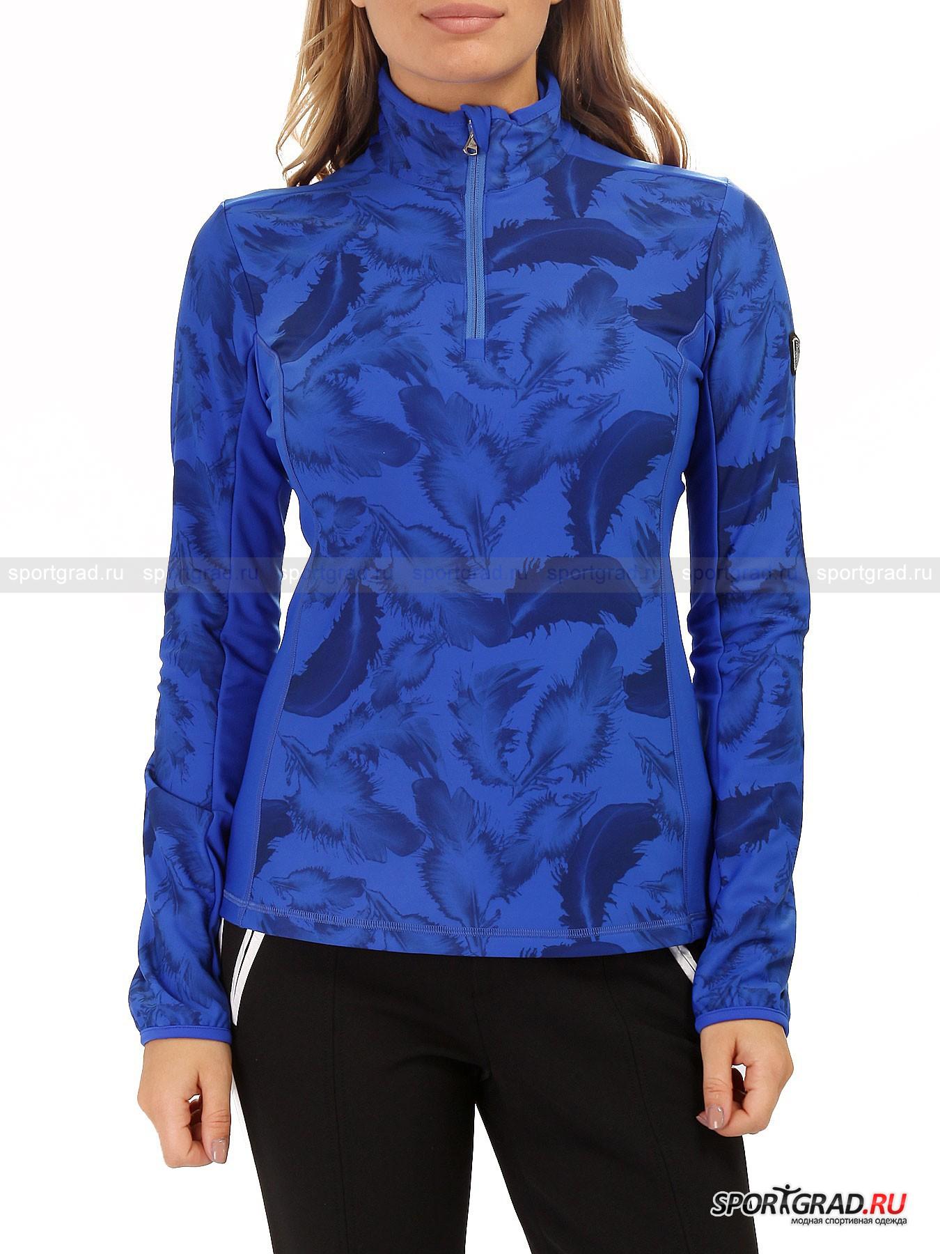"""Толстовка женская горнолыжная Ski Sweatshirt EMPORIO ARMANIТолстовки<br>Горнолыжная толстовка  Ski Sweatshirt от EA7 Emporio Armani воплощает в себе изящество и женственность в сочетании с инновационными технологиями. За """"техническую"""" часть отвечает ткань Carvico, из которой выполнена модель: она  удерживает тепло тела и выводит лишнюю влагу, обладает превосходными """"дышащими"""" свойствами и даже защищает от ультрафиолетового излучения. Красоту же обеспечивает приталенный крой, интересные цвета и нежный принт с изображением перьев.<br><br>Особенности модели:<br>-вертикальные рельефы для лучшего прилегания;<br>-воротник-стойка;<br>-молния в верхней части;<br>-фирменная нашивка на плече;<br>-мягкая """"плюшевая"""" изнанка.<br><br>Пол: Женский<br>Возраст: Взрослый<br>Тип: Толстовки<br>Рекомендации по уходу: стирка при 30 С; нельзя гладить, отбеливать, подвергать химической чистке, выжимать и сушить в стиральной машине<br>Состав: 85% полиамид, 15% эластан"""