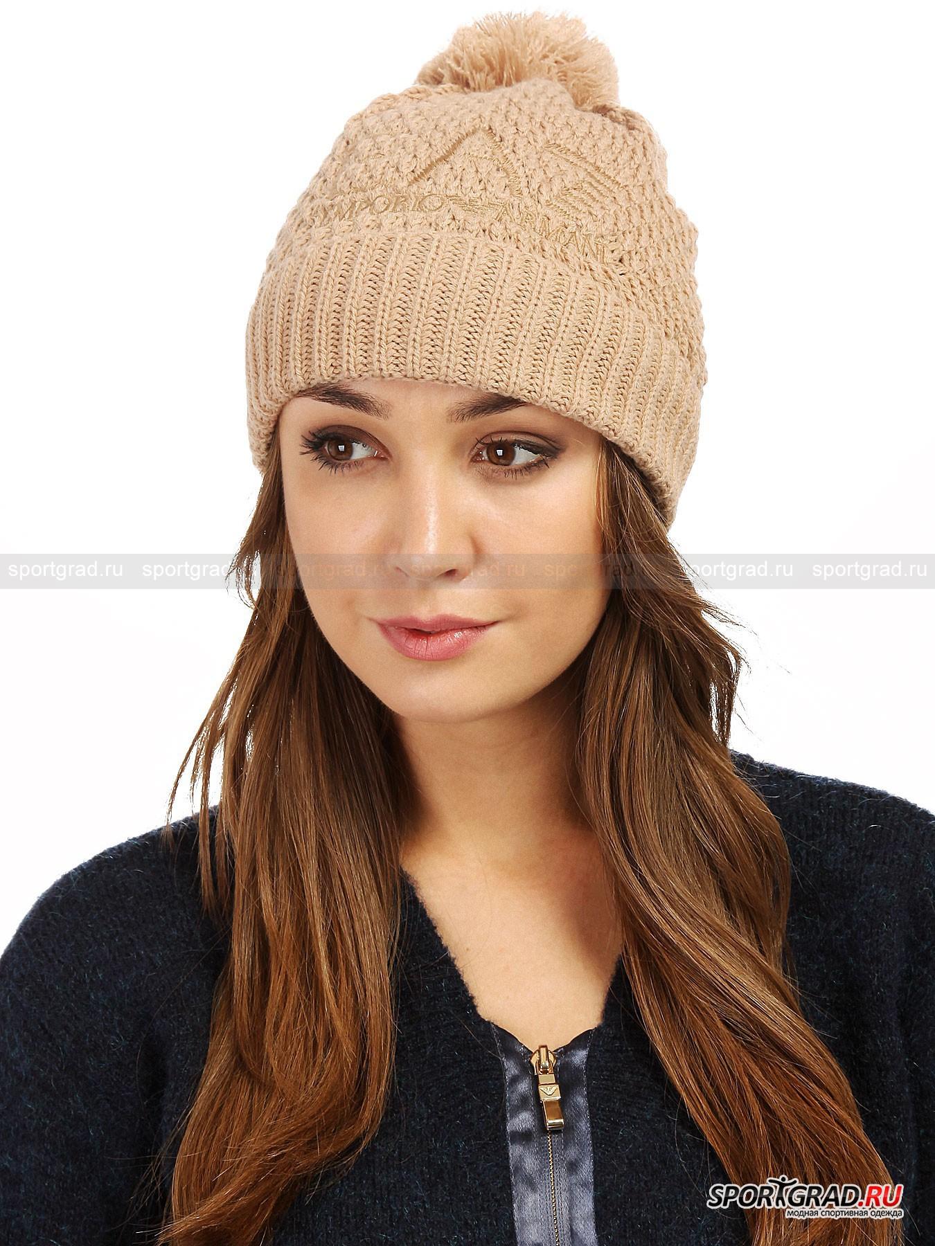 Шапка женская Mountain Basic Hat EMPORIO ARMANI