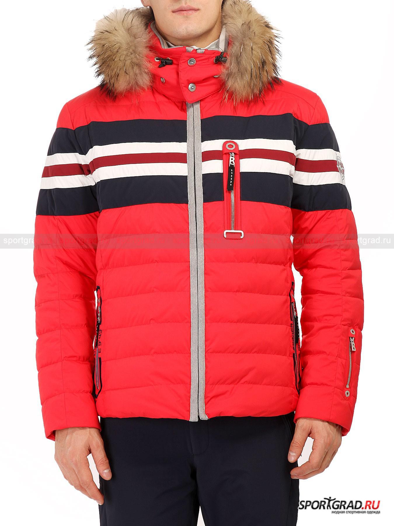 Мужская куртка BOGNER Niilo-DКуртки<br>Теплая и надежная верхняя одежда – визитная карточка немецкой компании Bogner, которая стоит на страже Вашего комфорта в холодное время года.<br><br>Мужская куртка Niilo представляет собой привычный горнолыжный пуховик, в качестве утеплителя для которого были выбраны натуральные материалы. При этом особая защитная мембрана отлично изолирует влагу изнутри куртки, параллельно не допуская попадания ее снаружи. Любой вид осадков теперь останется для Вас незамеченный. Стильный дизайн модели невероятно практично дополняется специальной вставкой внутри куртки, которая фиксируется на талии и не позволяет снегу попадать под куртку. Любители горнолыжного отдыха должны в полной мере оценить многофункциональность данной модели.<br><br>•Удобный отстегивающийся капюшон с утяжками и особым слоем теплосбережения<br>•Фронтальная металлическая молния<br>•Два поясных кармана и один нагрудный на молнии<br>•Дополнительный карман на левом рукаве <br>•Дублирующийся рукав на широкой резинке<br><br>Пол: Мужской<br>Возраст: Взрослый<br>Тип: Куртки<br>Рекомендации по уходу: Деликатная стирка при 30С, не отбеливать, сушить в барабане стиральной машины разрешено, гладить при температуре не выше 110С, химчистка запрещена.<br>Состав: 100% полиамид, утеплитель – 80% пух/20% перо.