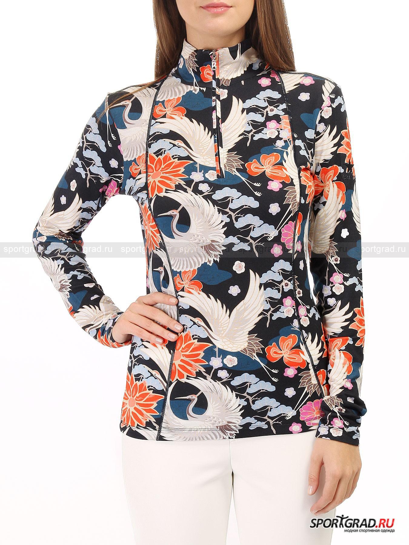 Толстовка женская BOGNER MarnaТолстовки<br>Компания Bogner продумывает свою продукцию со всей тщательностью, присущей мастерам своего дела. Стоит понимать, что одежда для зимнего периода – это не только теплые куртки и свитера, должна быть заготовлена основа и под них.<br><br>Такой основой может стать модель женской толстовки Marna, которую принято использовать в качестве первого слоя вместо пресловутых футболок и маек. На горнолыжном склоне важно правильно подобрать себе одежду, чтобы наслаждаться отдыхом в полной мере, а не проводить его с температурой на больничной койке. Легкий, воздушный материал изготовления дополнен эластаном для лучшей эластичности и износостойкости. Ключевым и бросающимся в глаза видом оформления толстовки стала, конечно, его расцветка. Приятный принт с изображением цветов будет поднимать настроение в любую погоду.<br><br>•Ворот стойкой<br>•Молния на вороте до груди<br>•Усиленные швы<br>•Фирменный логотип компании на бегунке молнии<br><br>Пол: Женский<br>Возраст: Взрослый<br>Тип: Толстовки<br>Рекомендации по уходу: Деликатная стирка при 30С, не отбеливать, не сушить в барабане стиральной машины, гладить при температуре не выше 110С, химчистка разрешена.<br>Состав: 95% вискоза/5% эластан.
