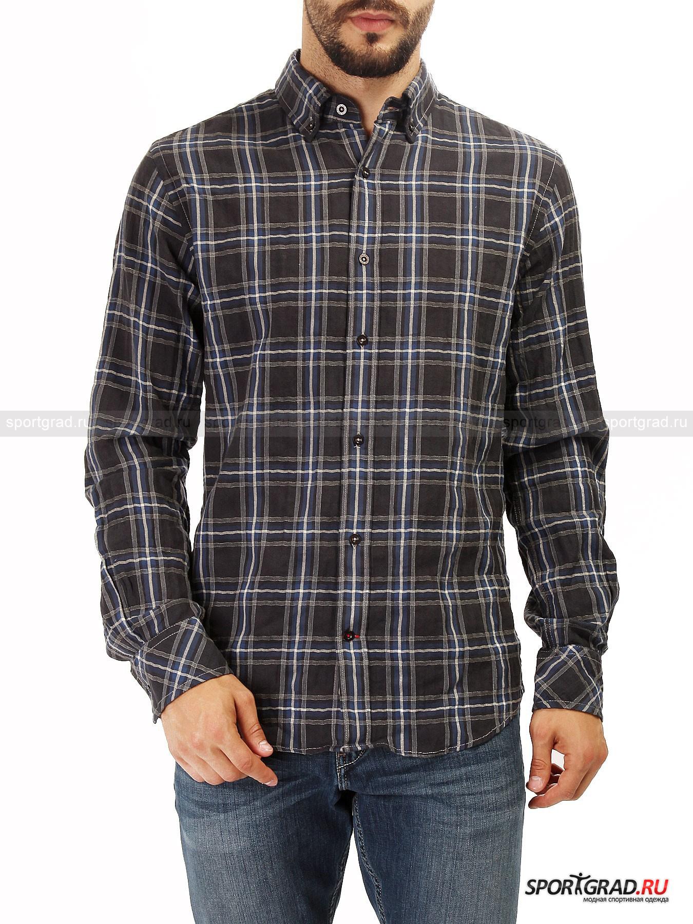 Рубашка мужская BOGNER FIRE&amp;ICE NealРубашки<br>Молодежное направление Bogner Fire&amp;Ice наполнено духом свободы и непрестанного позитивного настроя. При этом предметы гардероба из данной коллекции наделены стильным силуэтом и аккуратным кроем.<br><br>Мужская рубашка Neal – характерный пример фланелевой модели, которые чаще всего исполняются в клетчатом оформлении. Более тонкая материя, по сравнению с аналогами, делает модель значительно легче и удобнее в носке. Подобные рубашки прекрасно сочетаются с различным набором предметов гардероба и обуви. Джинсы или брюки, кроссовки или ботинки, не важно, все будет здорово смотреться с такой рубашкой.<br><br>•Застегивается на пуговицы<br>•Удлиненный рукав<br>•Ворот фиксирован пуговицами<br>•Манжеты рукавов на пуговицах<br><br>Пол: Мужской<br>Возраст: Взрослый<br>Тип: Рубашки<br>Рекомендации по уходу: Деликатная стирка при температуре 30С, не отбеливать, не сушить в барабане стиральной машины, не гладить, химчистка разрешена.<br>Состав: 99% хлопок/1% эластан.