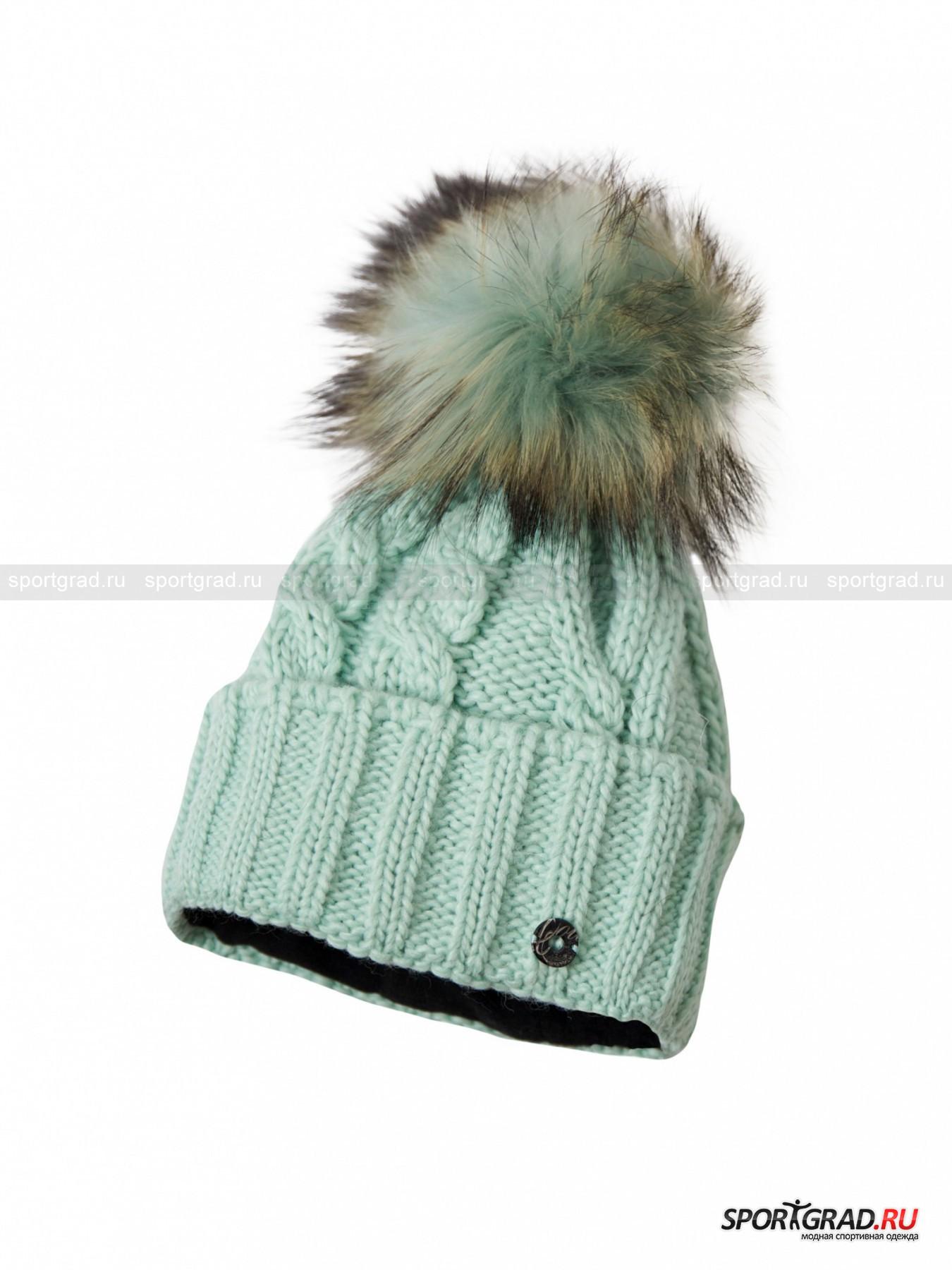 Шапка женская  Baden NE SPORTALMГоловные Уборы<br>Теплая, комфортная  и красивая шапочка Baden NE от Sportalm - прекрасный выбор и для зимовки в городе, и для горнолыжного курорта. Она выполнена в технике крупной вязки, очень модной в этом сезоне. Такая шапка непременно должна быть в гардеробе каждой девушки, следящей за тенденциями с мировых подиумов.<br><br>Модель нежного пастельного оттенка хороша не только внешне – она довольно плотная, очень мягкая и прекрасно защитит не только от холода, но и от ветра. Об этом позаботится полоска из флиса, которой дополнено изделие изнутри по периметру. Другие особенности: пушистый отстегивающийся помпон из натурального меха и фирменная нашивка Sportalm.<br><br>Пол: Женский<br>Возраст: Взрослый<br>Тип: Головные Уборы<br>Рекомендации по уходу: ручная стирка; нельзя гладить, отбеливать, сушить в стиральной машине, подвергать химической чистке<br>Состав: основной материал 70% полиакрил, 30% шерсть; подкладка 100% полиэстер; помпон 100% мех финского енота