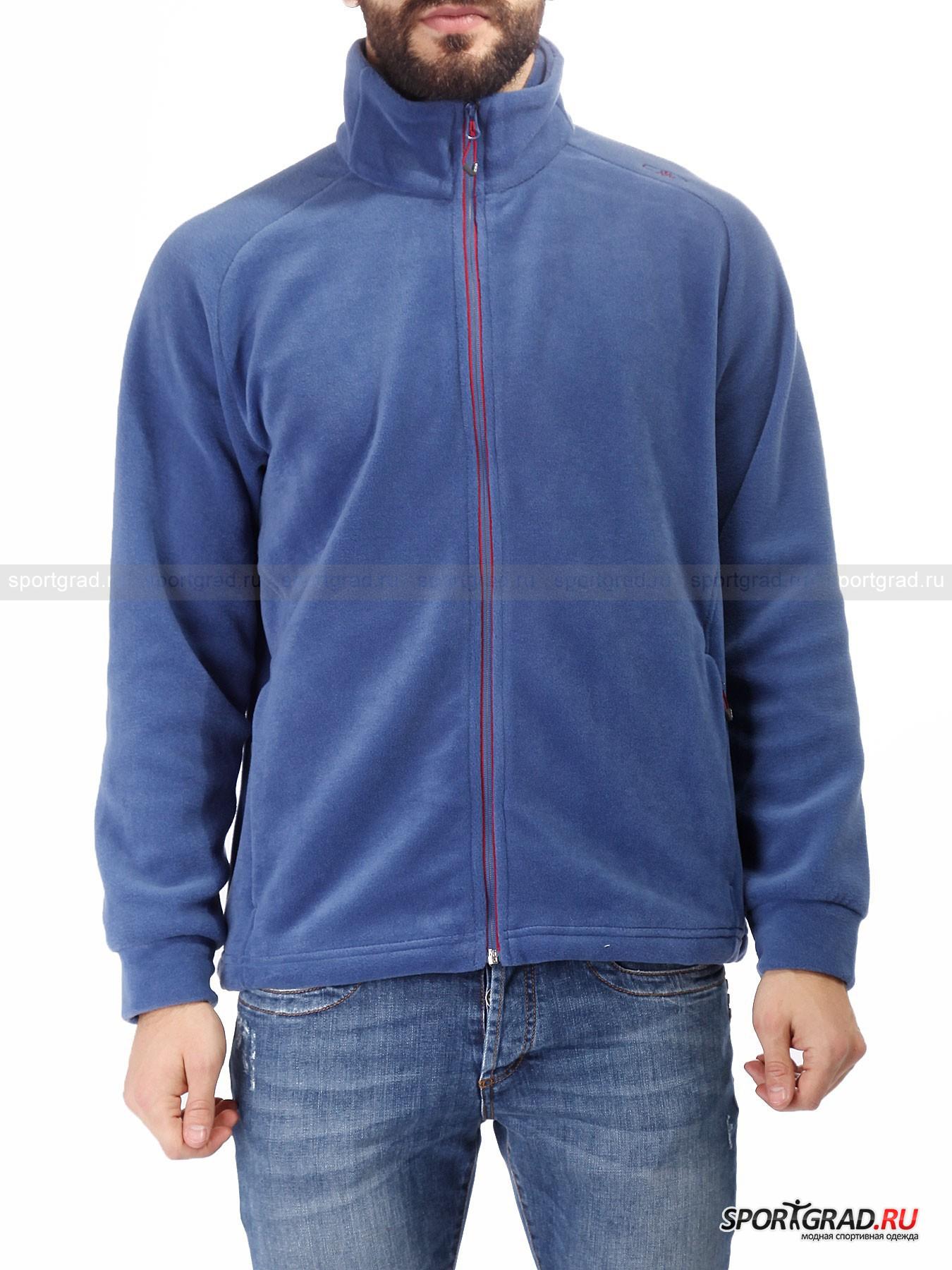 Мужская толстовка CMP Man Fleece JacketТолстовки<br>Надежная практичная одежда для холодного времени года – визитная карточка итальянской компании CMP.<br><br>Долговечная мужская толстовка Man Fleece jacket изготовлена из флиса, который прекрасно сберегает тепло собственного тела. Приятный на ощупь материал изготовления отлично сохраняет свой внешний и прослужит вам несколько сезонов подряд. Данный предмет гардероба можно использовать в качестве промежуточного слоя под теплую куртку при самых суровых погодных условиях. Или же на нее можно рассчитывать, как на вариант верхней одежды в межсезонье.<br><br>•Высокий ворот<br>•Фронтальная молния<br>•Легкий и быстросохнущий материал изготовления<br>•Манжеты рукавов оснащены широкой резинкой<br>•Утягивающая система вдоль нижней кромки толстовки<br><br>Пол: Мужской<br>Возраст: Взрослый<br>Тип: Толстовки<br>Рекомендации по уходу: Деликатная стирка при 40С, не отбеливать, сушить в барабане стиральной машины разрешено, не гладить, химчистка запрещена.<br>Состав: 100% полиэстер.
