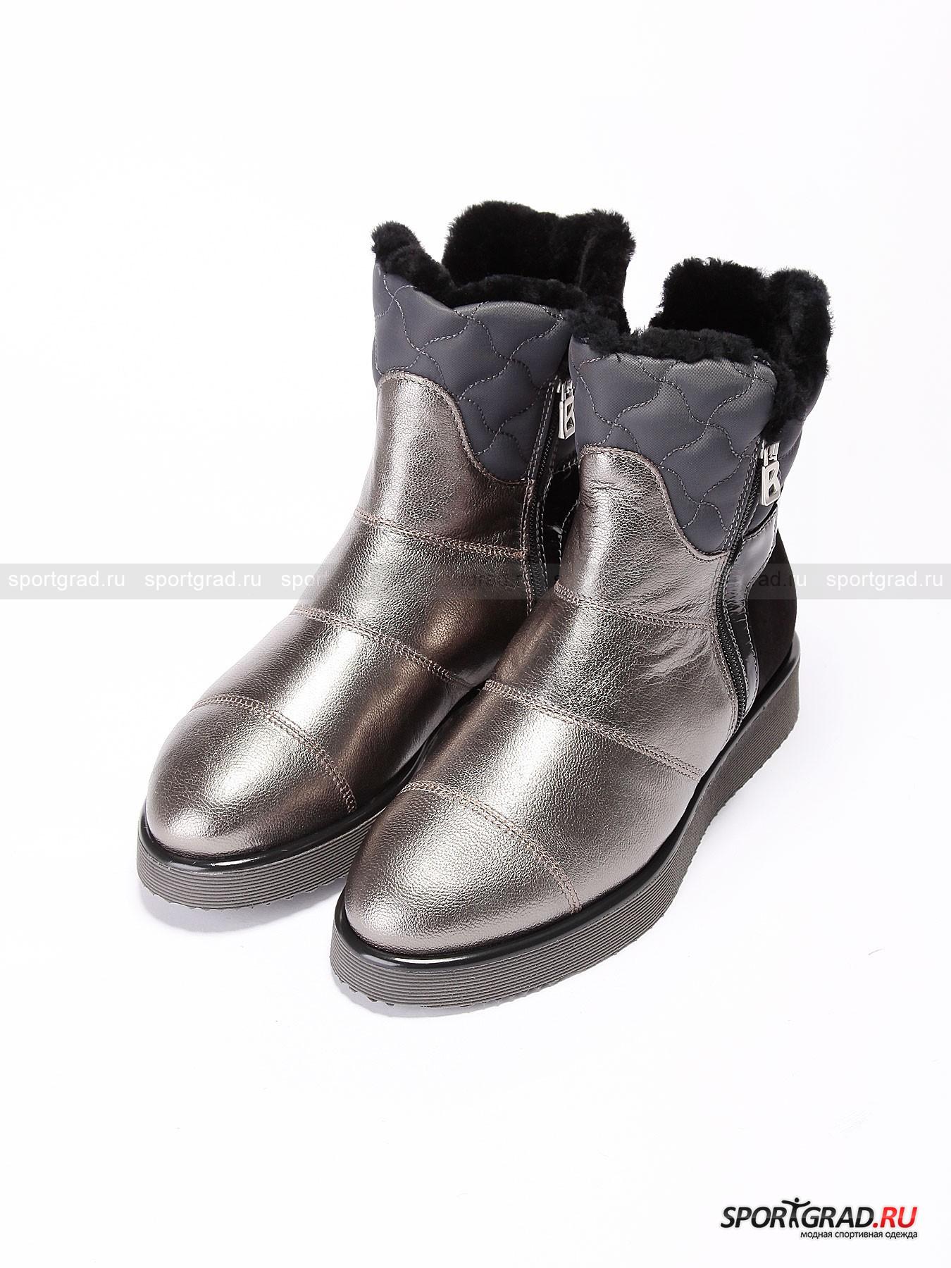 Женские ботинки BOGNER Oslo 1Ботинки<br>Знаменитый немецкий бренд Bogner производит не только качественную и практичную одежду для занятия горнолыжным спортом. Есть в линейке бренда и целая линия обувь для повседневной носки в условиях города.<br><br>В холодное время года особенно ценится обувь с высокой колодкой, а женские ботинки Oslo 1, помимо этого, обладают еще и внутренней отделкой мехом. Это автоматически делает их желанными для всех женщин, предпочитающих в первую очередь тепло и уют. При этом элегантный внешний вид обуви и качество используемых материалов изготовления удовлетворит требованиям самой искушенной публики.<br><br>•Застежка на молнии с обеих сторон<br>•Высокая резиновая подошва<br>•Съемная амортизирующая стелька<br>•Фирменный логотип <br>•В комплект входит специальный мешок для обуви<br><br>Пол: Женский<br>Возраст: Взрослый<br>Тип: Ботинки<br>Состав: Кожа, замша, синтетика, подошва - резина.