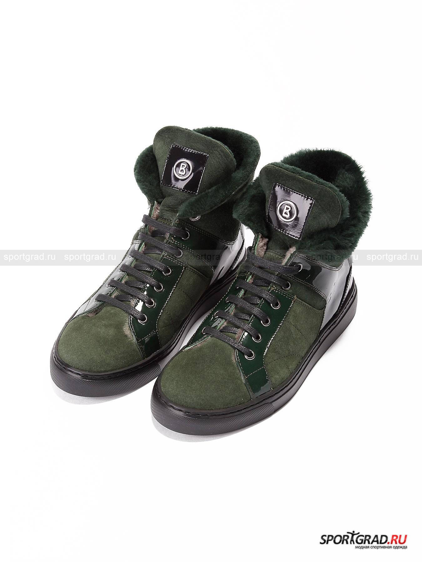 Женские ботинки BOGNER New Zalzburg 2Ботинки<br>Знаменитый немецкий бренд Bogner производит не только качественную и практичную одежду для занятия горнолыжным спортом. Есть в линейке бренда и целая линия обувь для повседневной носки в условиях города.<br><br>Женские ботинки New Zalzburg 2 – уникальный пример стильной и при этом очень теплой обуви на холодное время года. Примечательной особенностью модели является внутренняя отделка мехом. Даже стелька обладает собственным слоем натурального утеплителя. В остальном же верх ботинок сочетает в себе комбо из кожи и замши. Посажена верхняя часть на надежную и практичную резиновую подошву.<br><br>•Высокая колодка<br>•Надежная и плотная шнуровка<br>•Съемная амортизирующая стелька<br>•Фирменный логотип <br>•В комплект входит специальный мешок для обуви<br><br>Пол: Женский<br>Возраст: Взрослый<br>Тип: Ботинки<br>Состав: Кожа/замша, подошва – 100% резина.