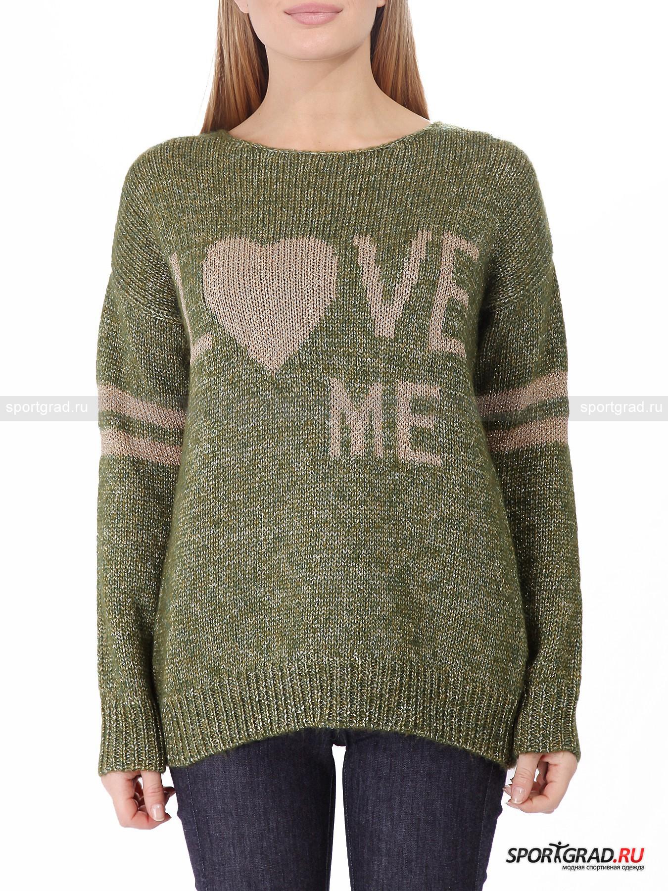 Свитер женский DEHAДжемперы, Свитеры, Пуловеры<br>Объемный свитер – самая удобная одежда для осени и зимы, а в этом сезоне еще и супермодная. Когда за окном холод, ветер и слякоть, так приятно закутаться в мягкое теплое вязаное полотно, а в свитере от Deha вы при этом еще и выглядеть будете потрясающе.<br><br>Модель, представленная на этой странице, нисколько не колется и не раздражает кожу. Широкая длинная вещь садится свободно, комфортно обнимая тело. Блестящая поверхность выглядит броско и эффектно, но в то же время спокойно и не вульгарно. Отличный свитер для девушек, которые действительно любят себя, как и гласит надпись спереди.<br><br>Пол: Женский<br>Возраст: Взрослый<br>Тип: Джемперы, Свитеры, Пуловеры<br>Рекомендации по уходу: не стирать; не отбеливать; гладить слегка нагретым утюгом (температура до 110 C); только сухая чистка; нельзя выжимать и сушить в стиральной машине<br>Состав: 1)45% шерсть, 55% полиэстер 2) 60% акрил, 40% полиэстер