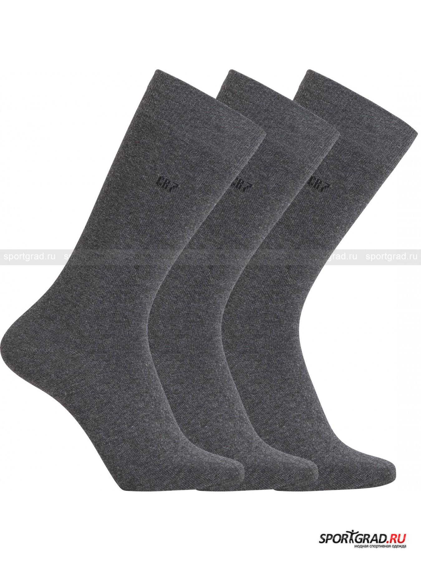 Набор высоких мужских носков 3-Pack Cotton Stretch CR7