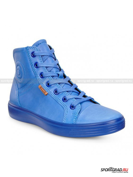 Ботинки для детей и подростков S7 Teen ECCOБотинки<br>Яркие ботинки для детей и подростков S7 Teen Ecco идеальны для весенней погоды. Они выполнены из натуральной кожи прекрасного светло-синего цвета. Боковые части мягкие и с изнанки снабжены текстильной вентилируемой подкладкой.<br><br>Ботинки очень легкие и гибкие, они обеспечивают анатомически правильное положение стопы и отличную амортизацию шага, что позволит ребенку долго гулять, не уставая. Стильный дизайн придется по вкусу даже самым привередливым маленьким модницам или модникам.<br><br>Особенности модели:<br>- плоская подошва;<br>- высокая шнуровка;<br>- молния на боку.<br><br>Возраст: Детский<br>Тип: Ботинки<br>Рекомендации по уходу: Использовать средства ухода за обувью из кожи.<br>Состав: Материал верха: натуральная кожа; подкладка, стелька: текстиль; подошва: полиуретан.