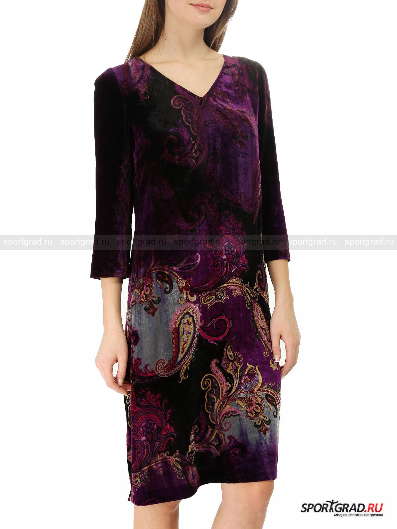 Платье бархатное EtroПлатья<br>Платье Etro прямого силуэта выделяется глубоким, благородным фиолетовым цветом и необычным материалом изготовления, напоминающим бархат. Несмотря на кажущуюся громоздкость, ткань тонкая и приятная к телу. <br><br>Простой фасон платья позволяет скрыть возможные недостатки фигуры, сделав акцент на стройных ногах. Орнамент «пейсли» вкупе с бархатистой поверхностью делают его похожим на наряд восточной красавицы из сказок «1001 ночь».<br><br>Пол: Женский<br>Возраст: Взрослый<br>Тип: Платья<br>Рекомендации по уходу: не стирать; не отбеливать; гладить слегка нагретым утюгом (температура до 110 C); химическая чистка сухим способом; нельзя выжимать и сушить в стиральной машине<br>Состав: 82% вискоза, 18% шелк; подкладка 55% ацетат, 44% вискоза