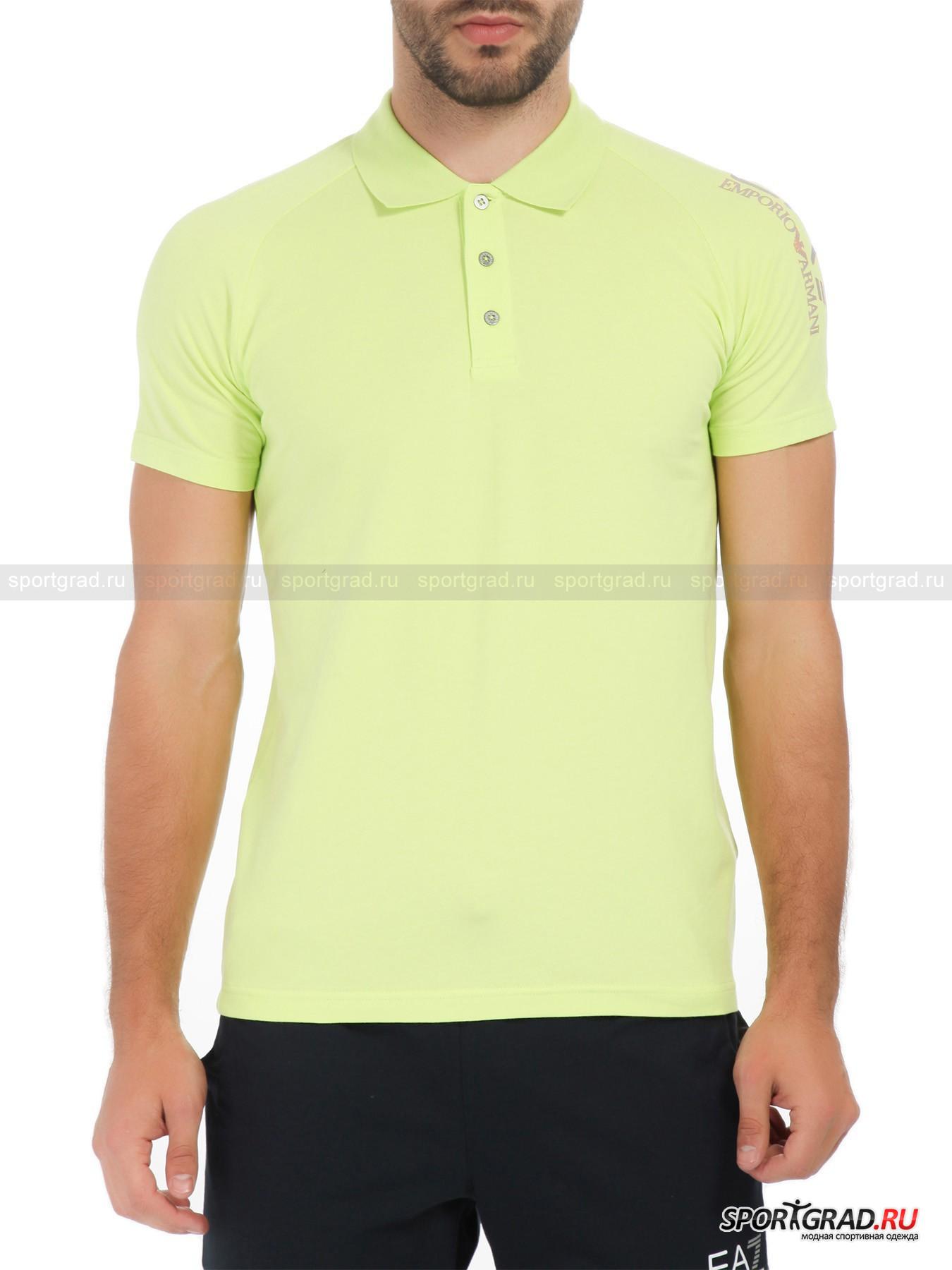 Поло мужское Train Visibility Polo Shirt EA7 Emporio Armani