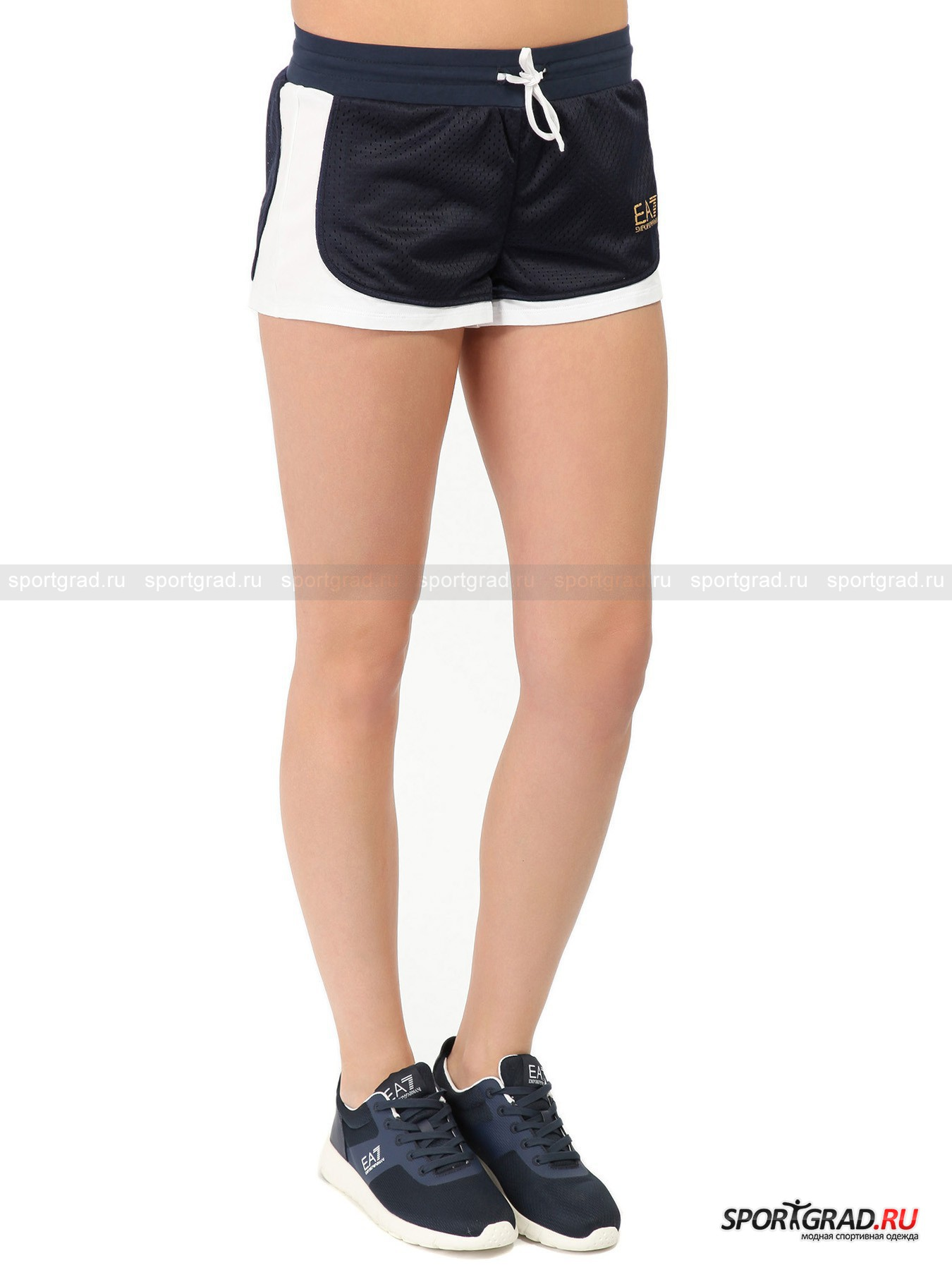 Шорты женские Train Varsity College Shorts EA7 Emporio Armani от Спортград