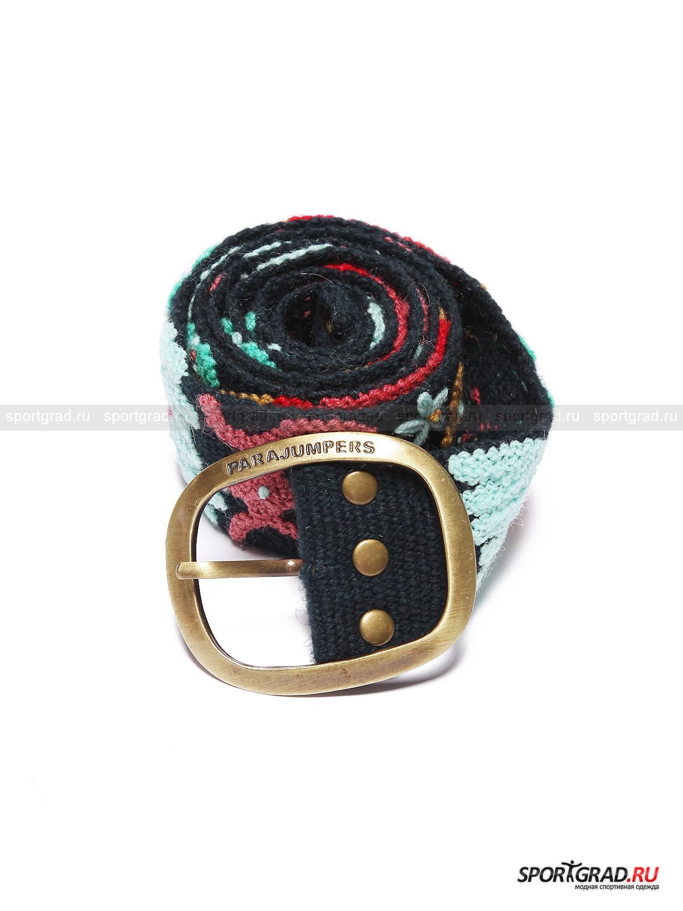 Ремень из шерсти Agata PARAJUMPERSРемни, Пояса<br>Этим летом стиль «хиппи» снова популярен: в моду вернулись брюки-клеш, натуральные материалы, этнические и цветочные мотивы. Компания Parajumpers внесла свой вклад в этот тренд, выпустив коллекцию ремней из шерсти, один из которых вы можете видеть на этой странице. Вещь выглядит сделанной вручную, поверхность ее расшита объемным ярким узором. Отличный аксессуар для эффектного летнего образа.<br><br>Пол: Женский<br>Возраст: Взрослый<br>Тип: Ремни, Пояса<br>Состав: 100% шерсть. Пряжка из металла.