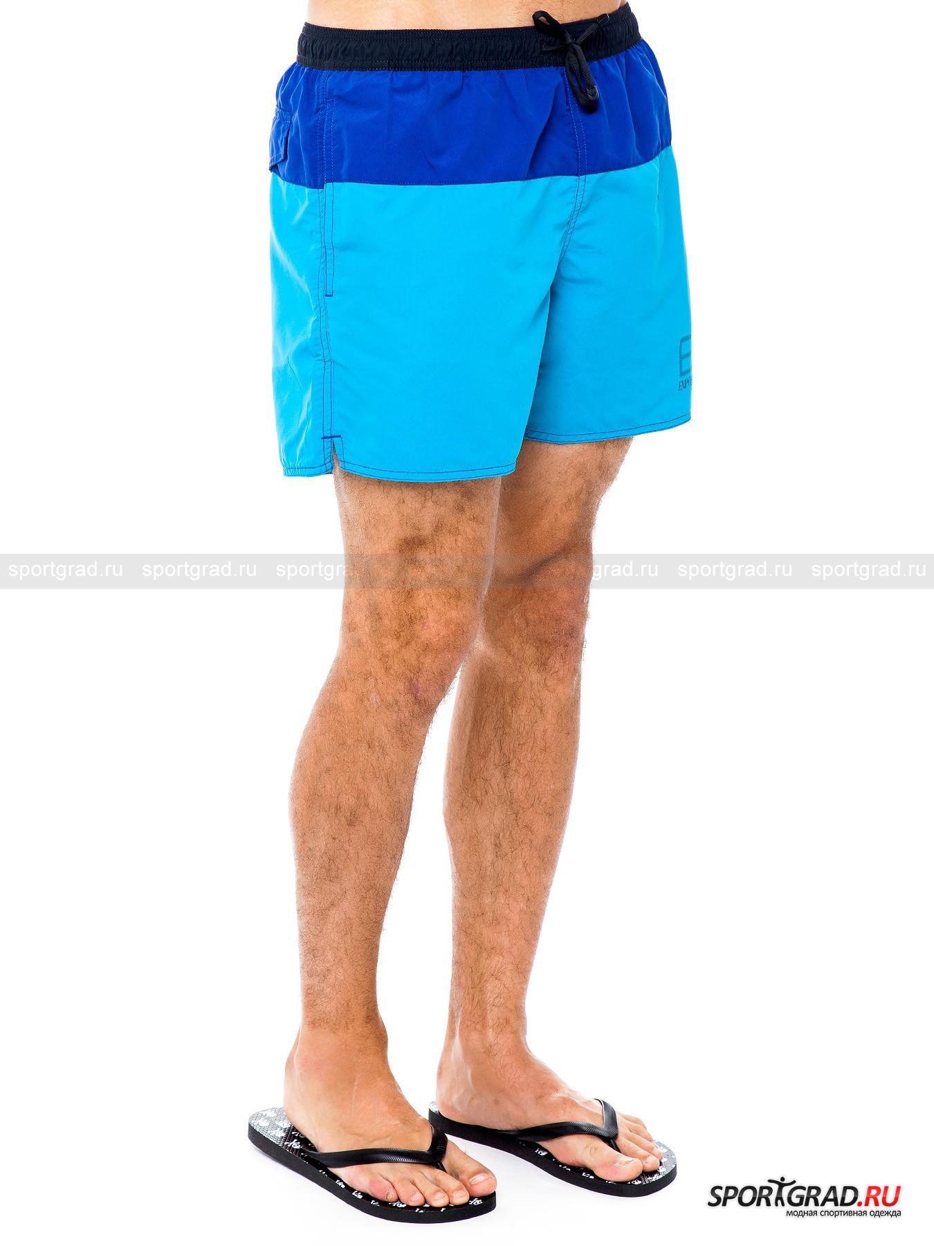 Шорты мужские пляжные Sea World Shaded Boxer EA7 Emporio Armani от Спортград