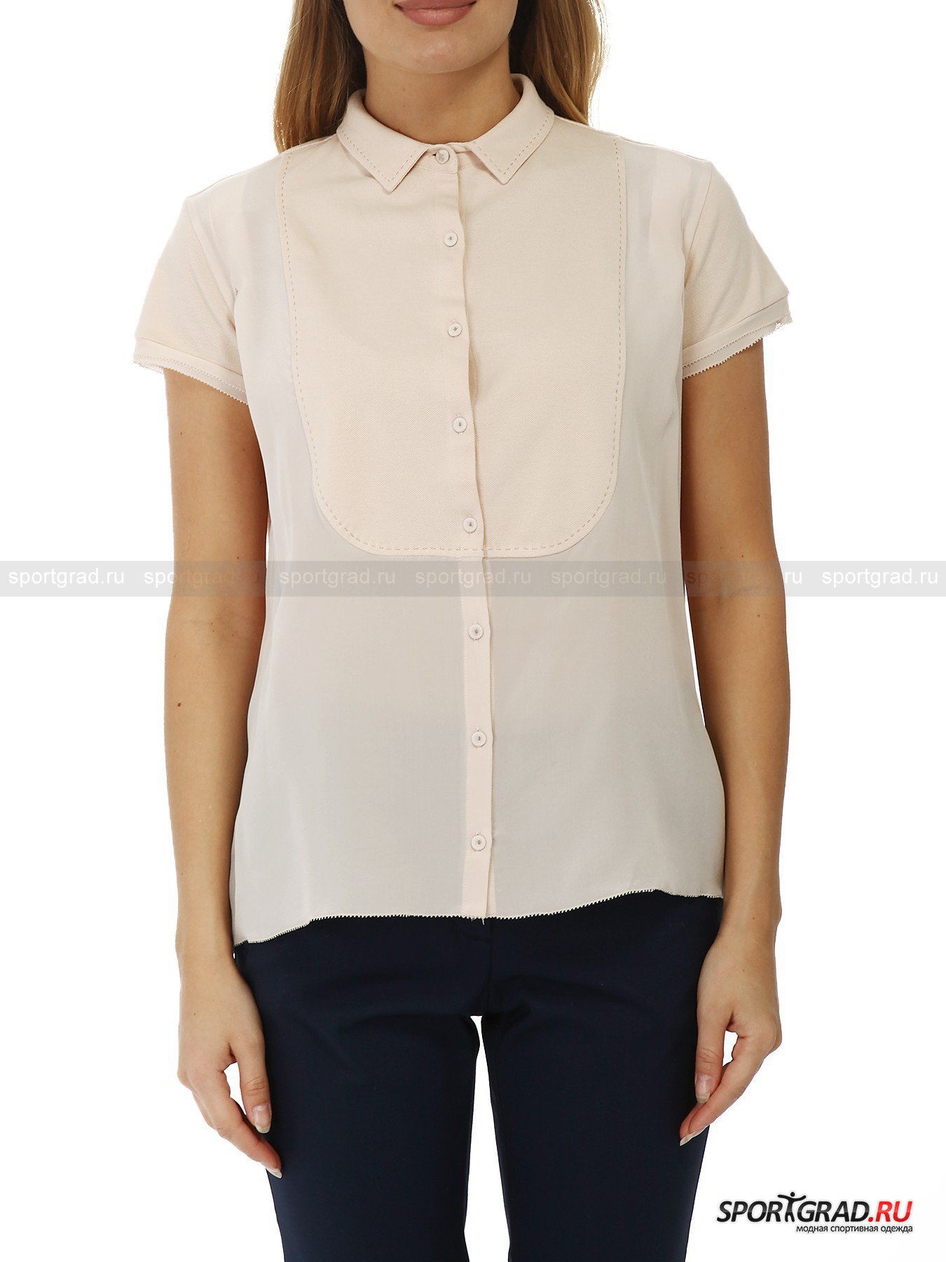 Блуза из шелка и хлопка HENRY COTTONS