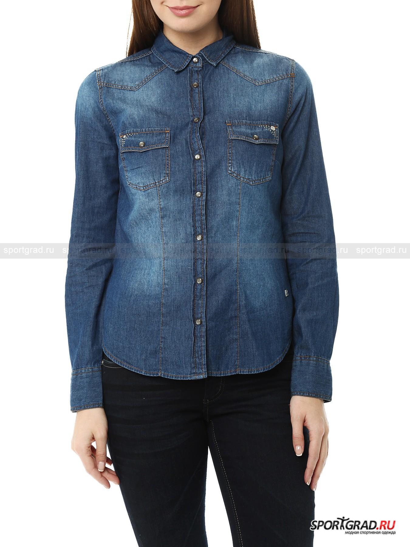 Рубашка женская джинсовая Denim Blouse BOGNER JEANS
