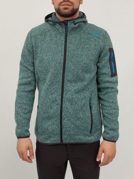 Олимпийка мужская CAMPAGNOLO MAN FLEECE JACKET FIX HOOD