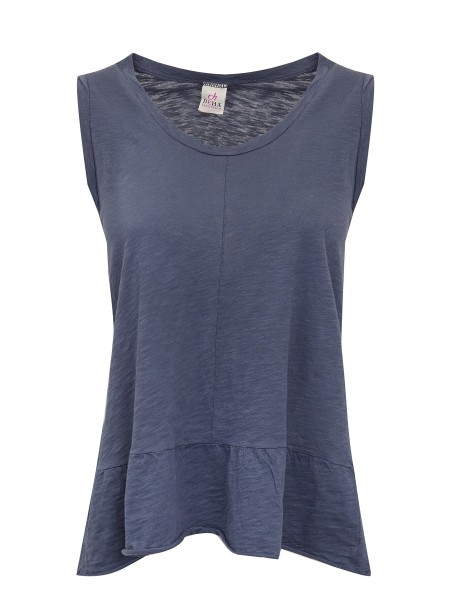 Топ женский Denim Peplum tank top