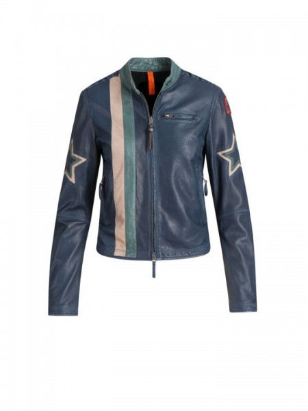 Куртка жен.  Biker Leather PARAJUMPERS